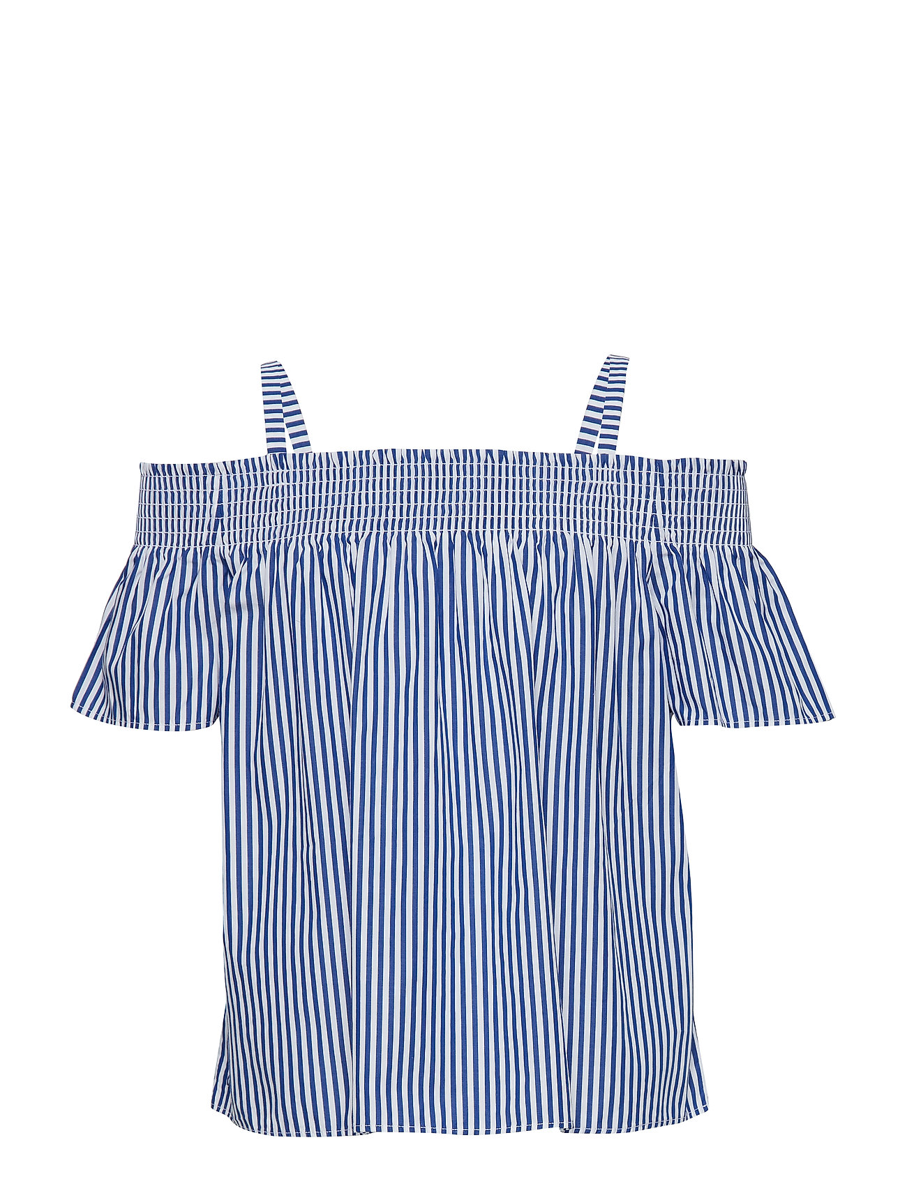 Ralph Lauren Kids Cotton Off-the-Shoulder Top - ACTIVE ROYAL/WHIT