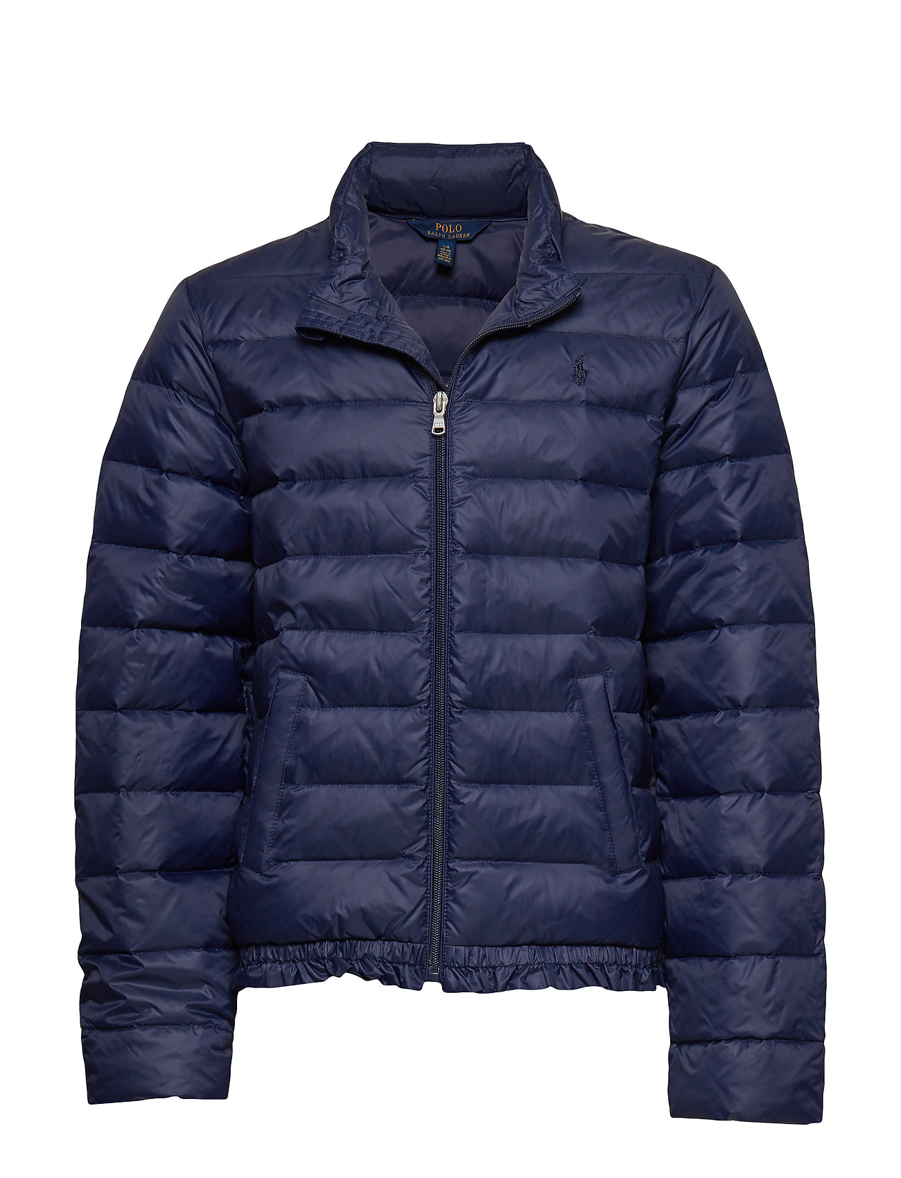 Ralph Lauren Kids Ruffled Quilted Down Jacket - FRENCH NAVY
