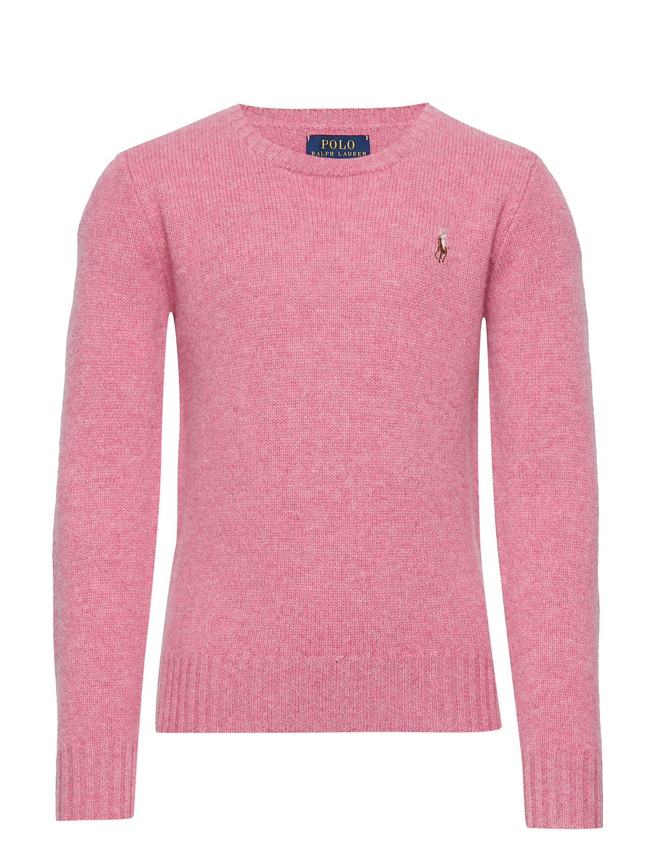 Ralph Lauren Kids WOOL CREW-TOPS-SWEATER - WINE ROSE HEATHER