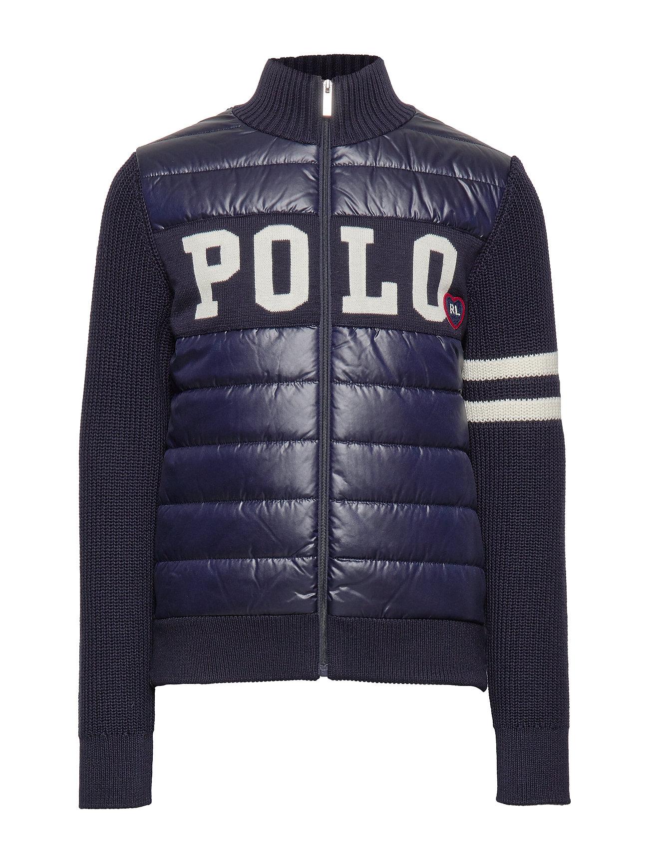 Ralph Lauren Kids Hybrid Full-Zip Sweater - RL NAVY