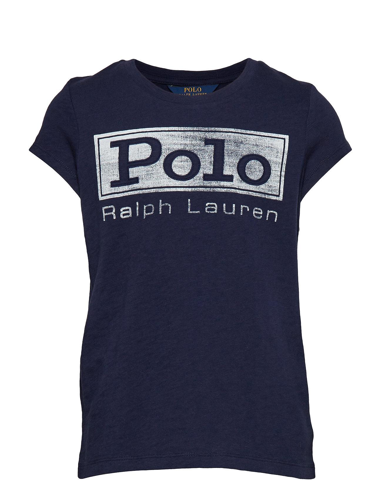 Ralph Lauren Kids Cotton Jersey Graphic Tee - FRENCH NAVY