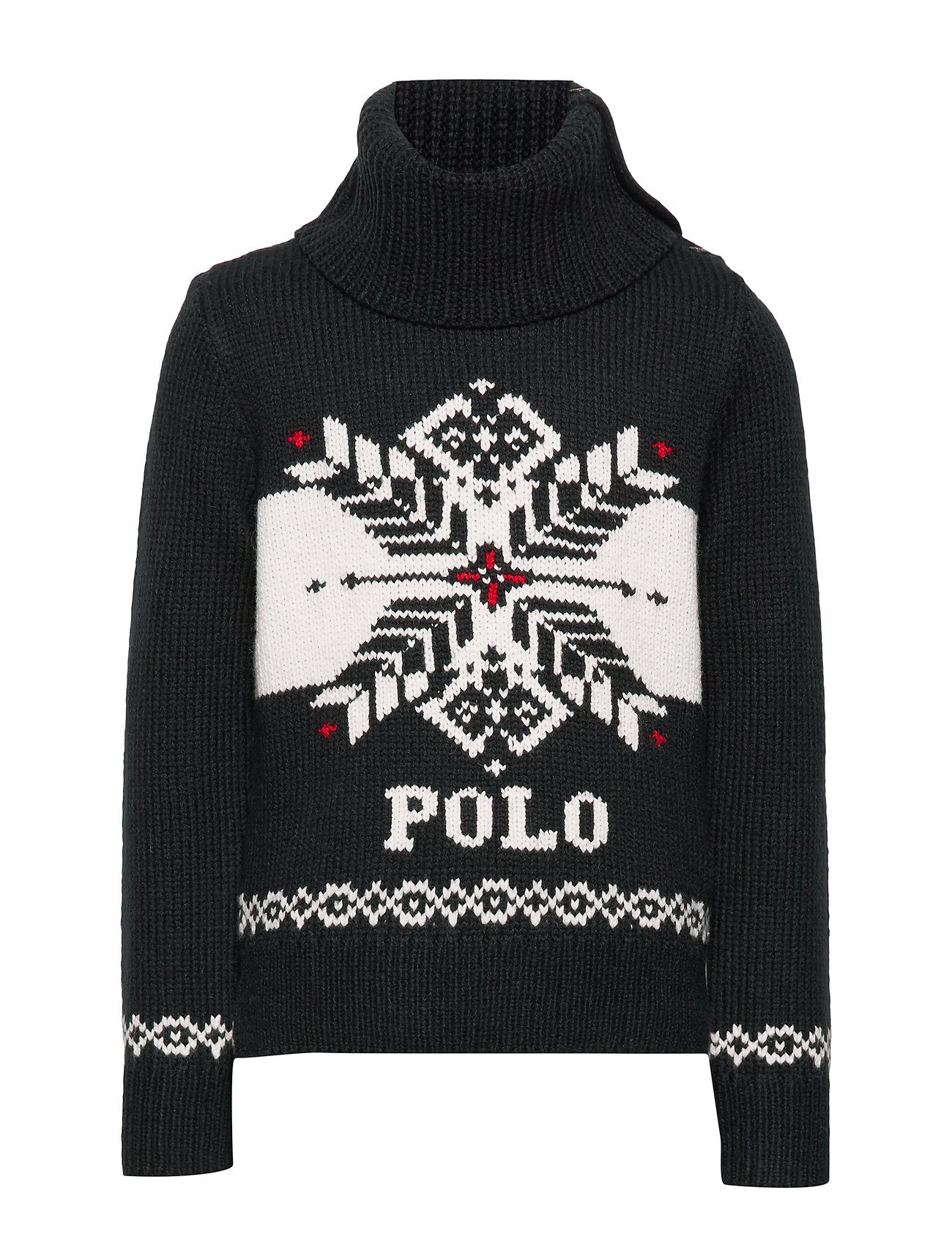 Ralph Lauren Kids ACRYLIC NYLON WOOL-SNOWFLAKE-TP-SWT - POLO BLACK CREAM