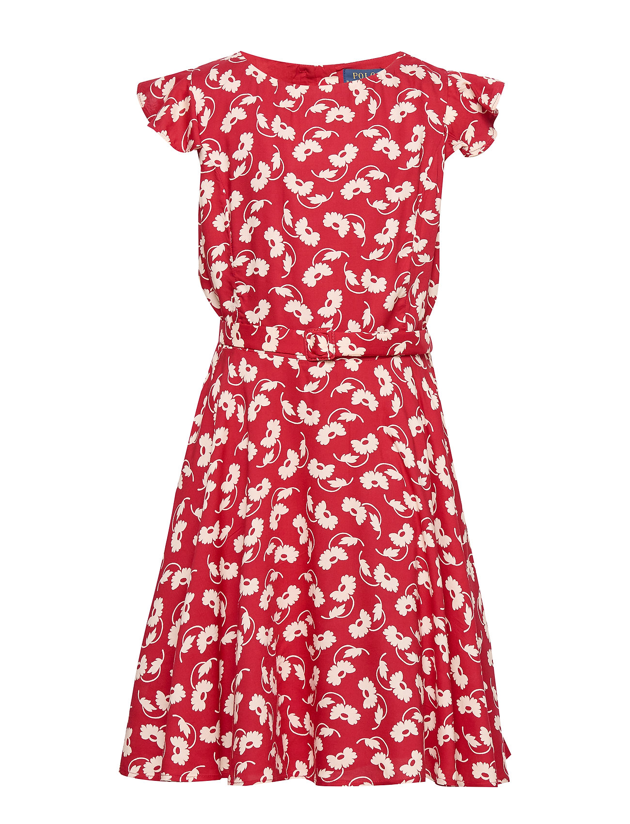 Ralph Lauren Kids Floral Belted Woven Dress - EASTERN FLORAL