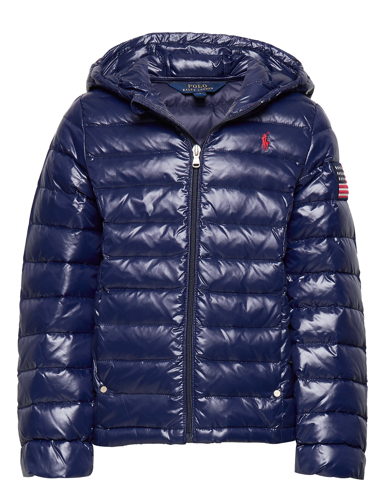 Ralph Lauren Kids Packable Quilted Down Jacket - FRENCH NAVY