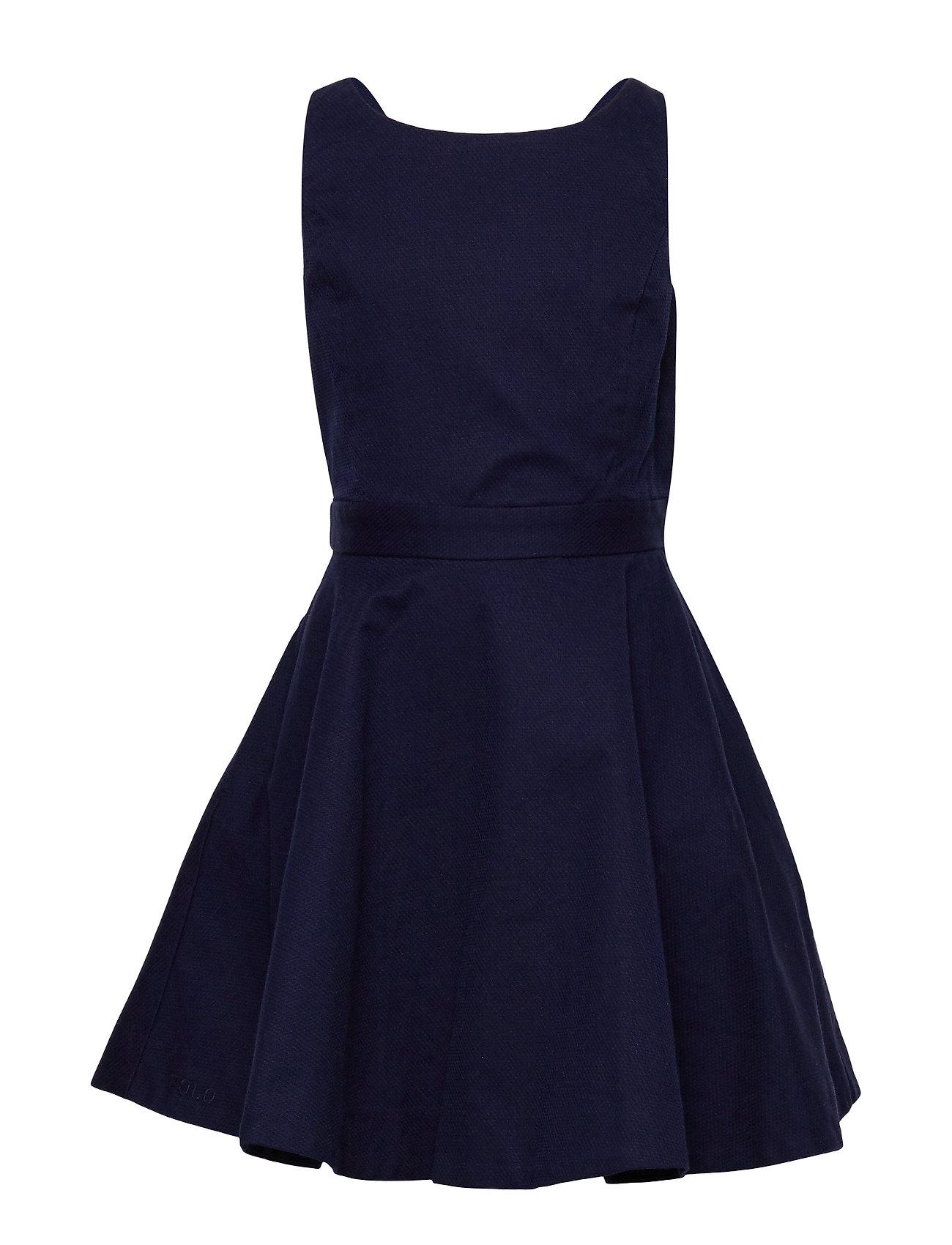 Ralph Lauren Kids Crossback Stretch Cotton Dress - FRENCH NAVY