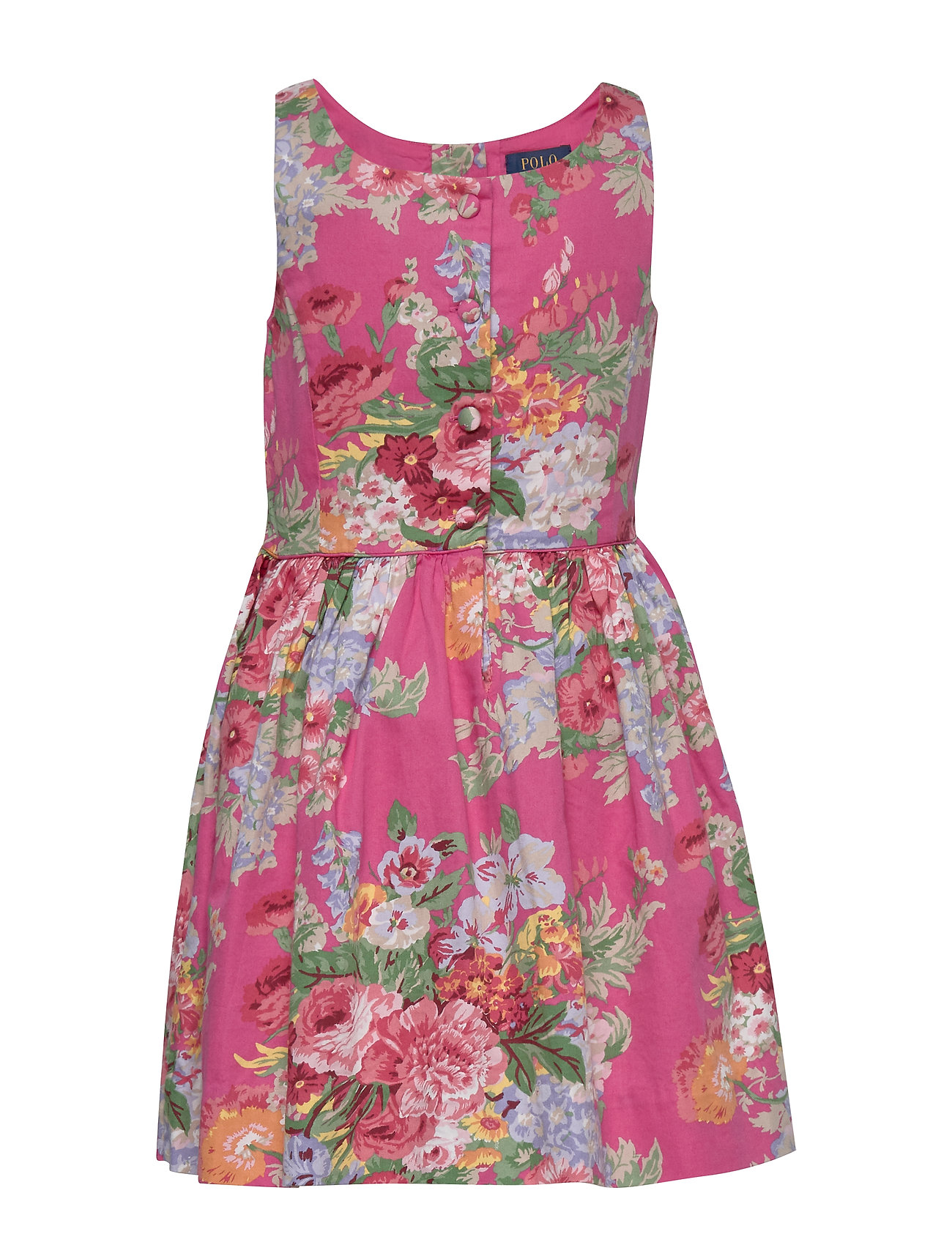 Ralph Lauren Kids Floral Cotton Sateen Dress - PINK MULTI