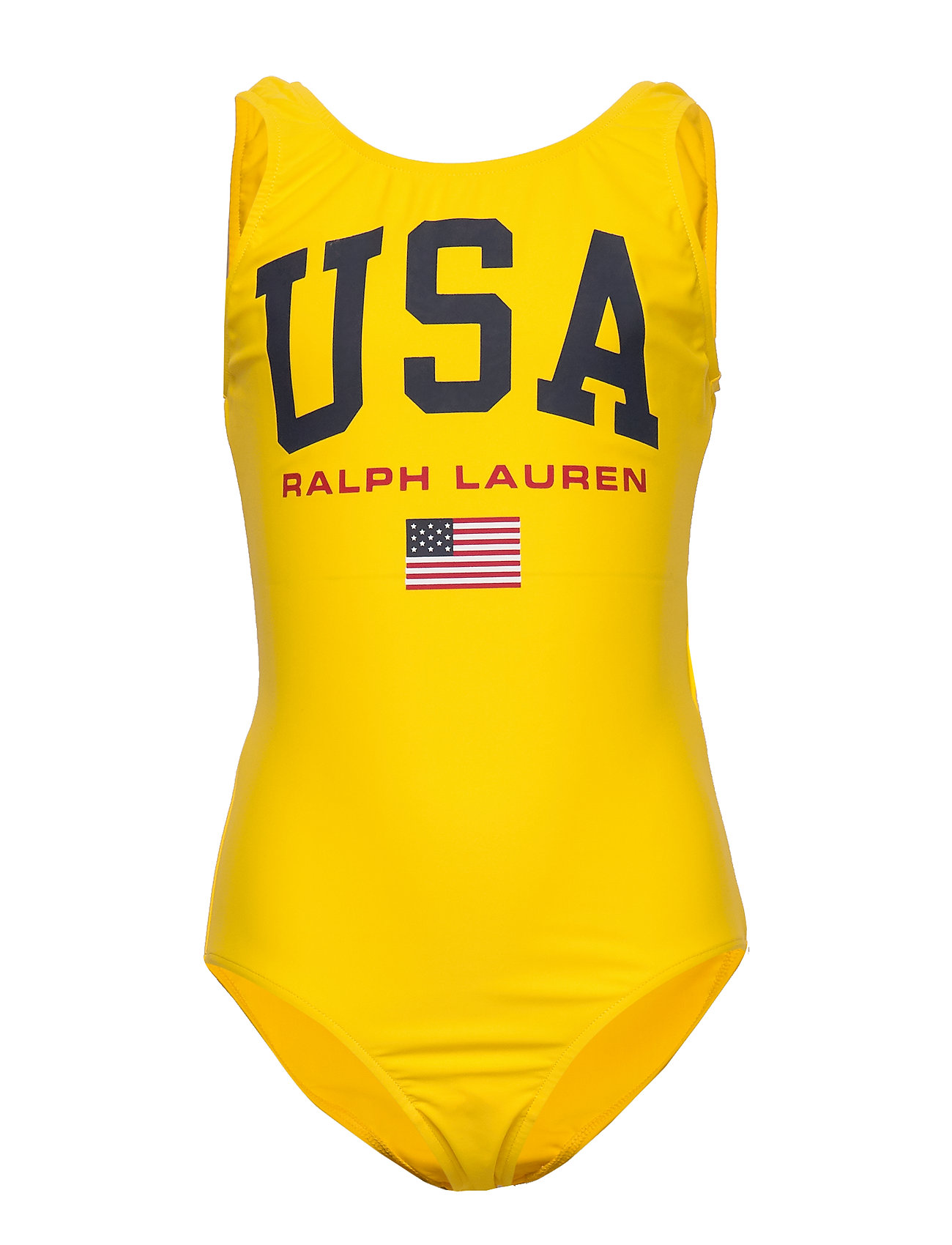 Ralph Lauren Kids USA One-Piece Swimsuit - LEMON RIND