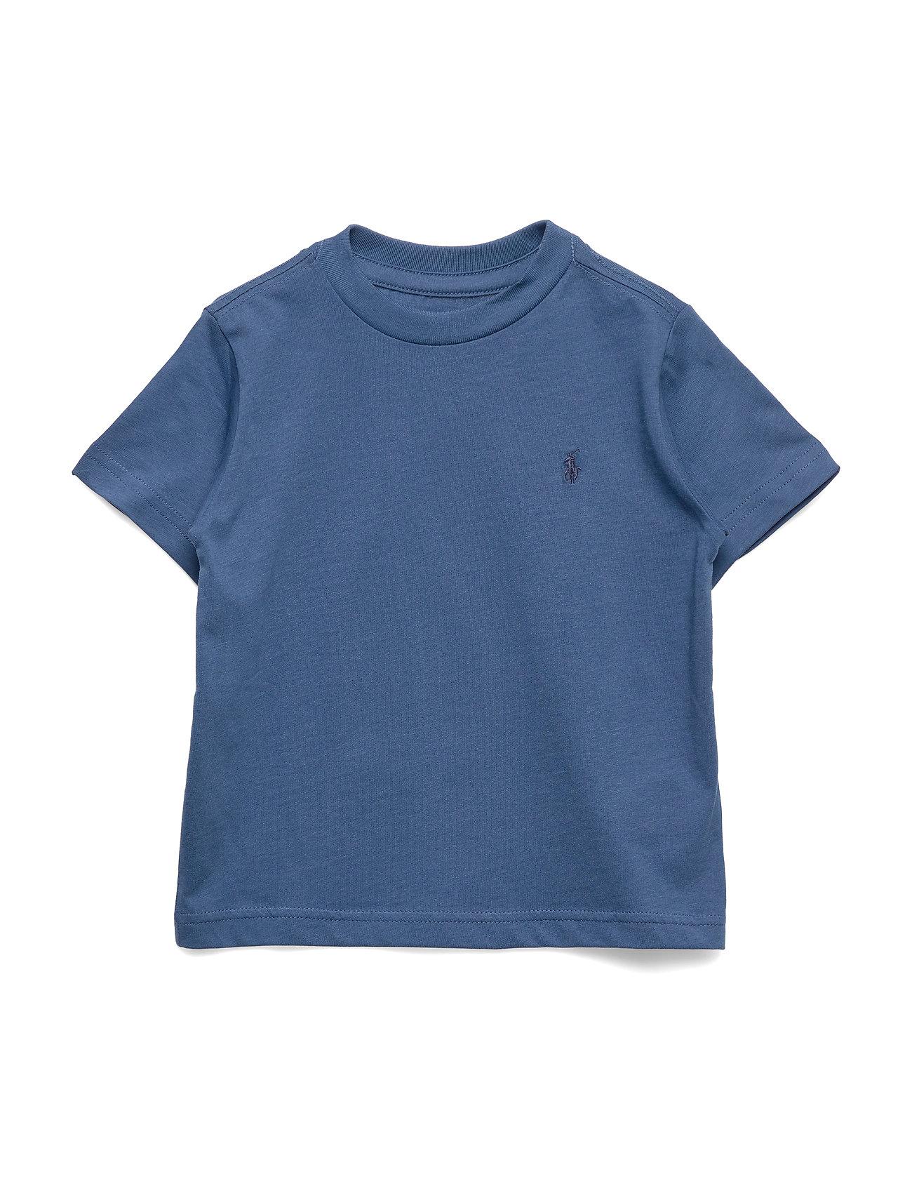 Ralph Lauren Kids Cotton Jersey Crewneck T-Shirt - FEDERAL BLUE