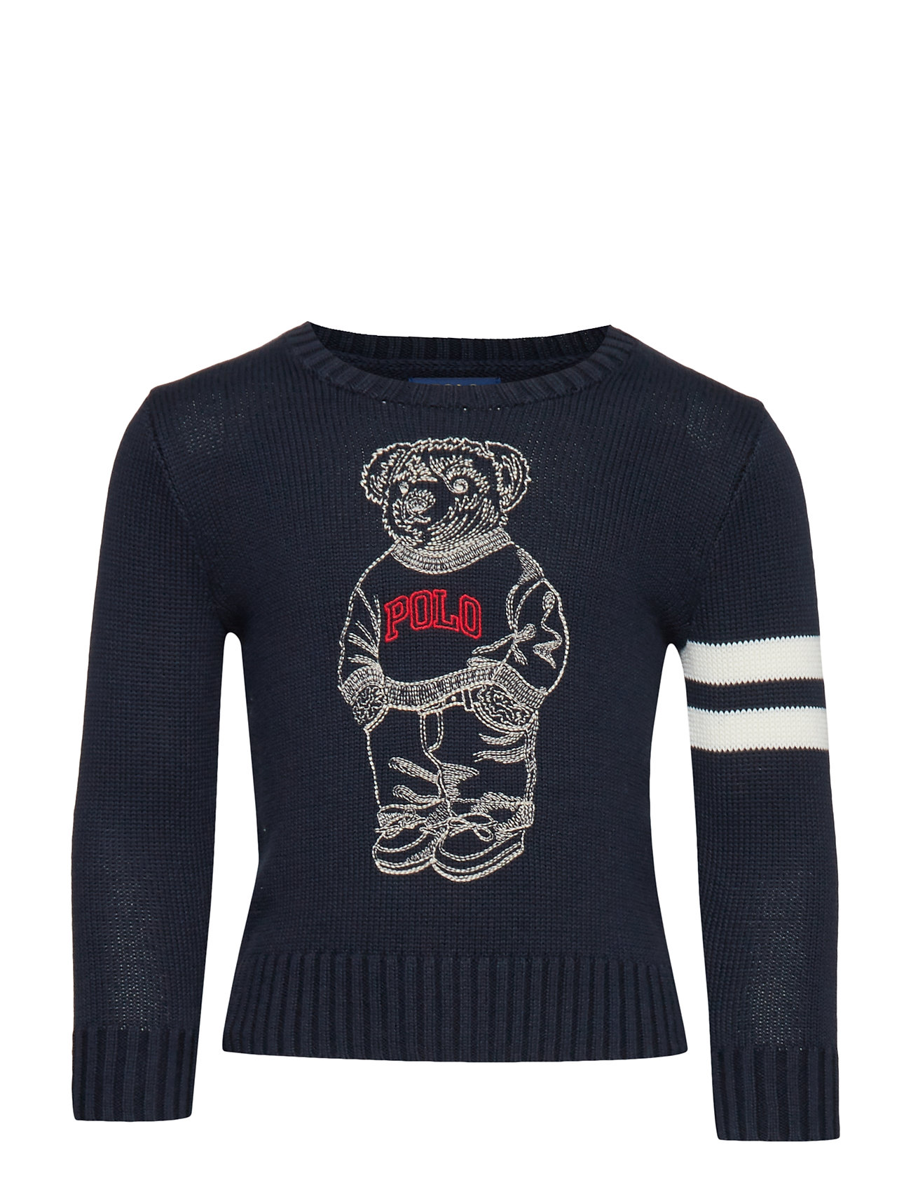 Ralph Lauren Kids COMBED COTTON-LS CN-TP-SWT