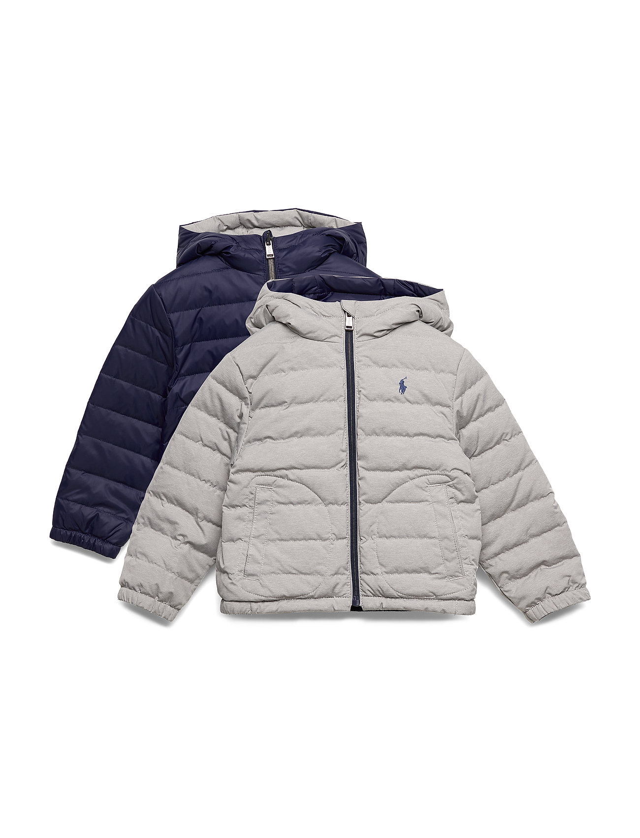 Ralph Lauren Kids Reversible Quilted Down Jacket - FRENCH NAVY/GREY
