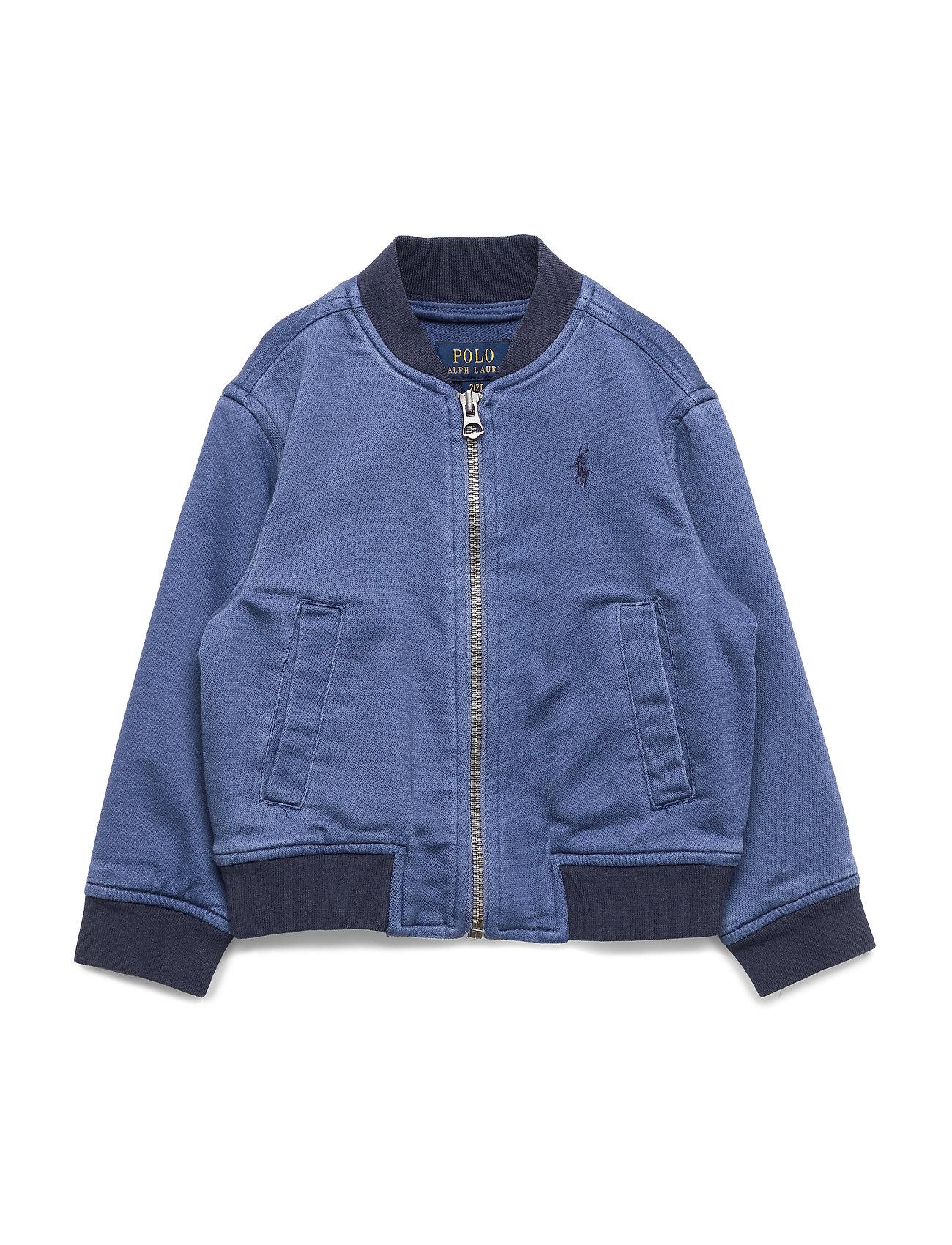 Ralph Lauren Kids Stretch Cotton Baseball Jacket - FEDERAL BLUE