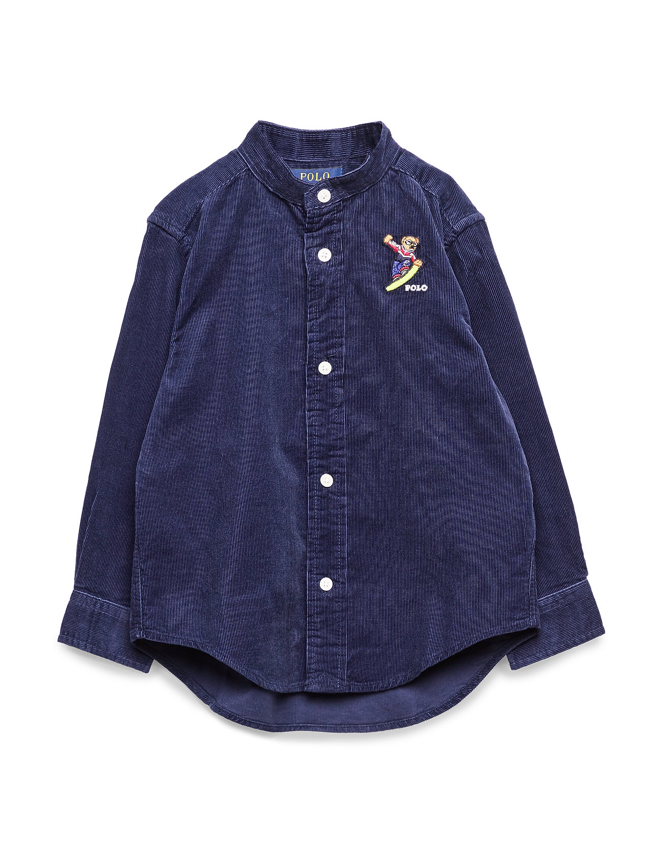 Ralph Lauren Kids Snowboard Bear Corduroy Shirt - FRENCH NAVY