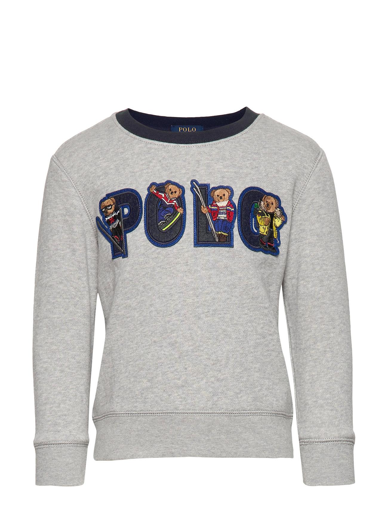 Ralph Lauren Kids Ski Bear Fleece Sweatshirt - ANDOVER HEATHER