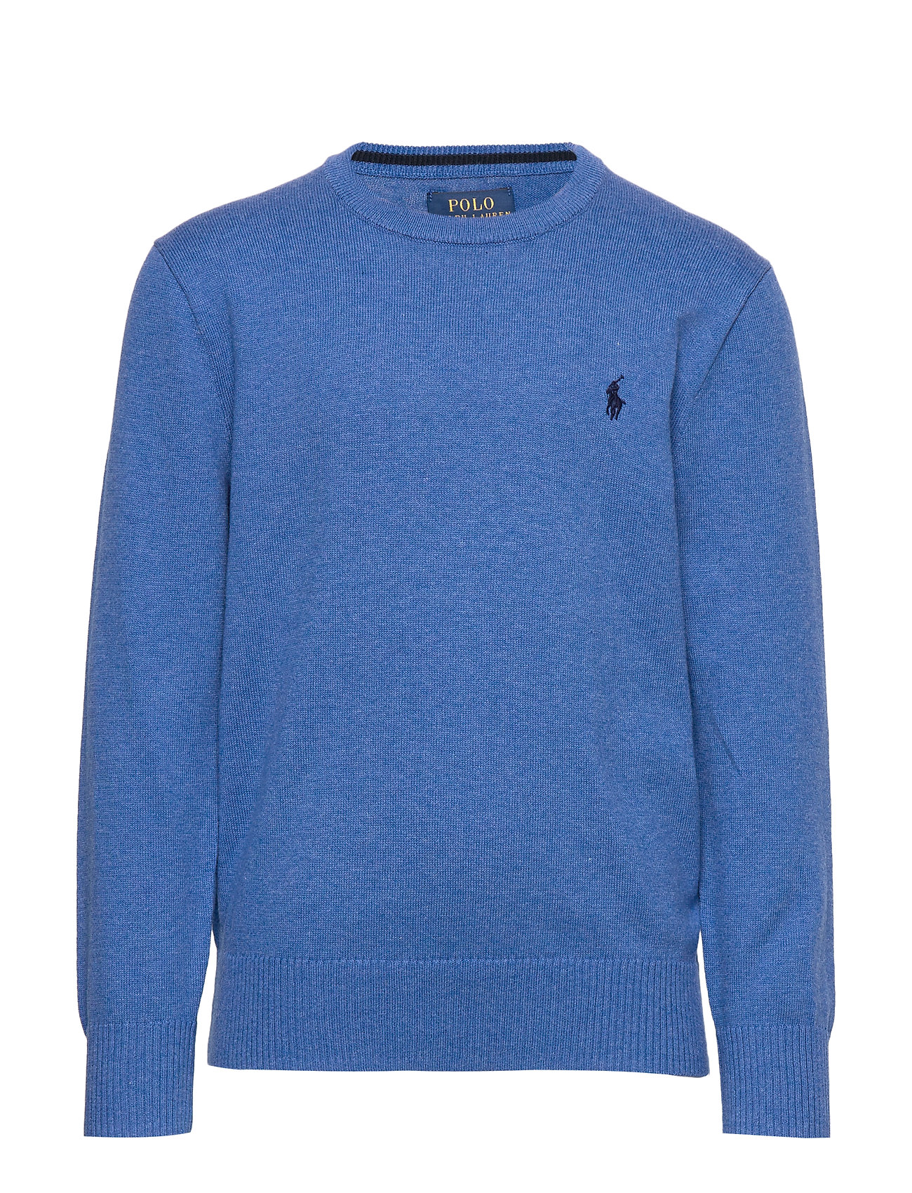 Ralph Lauren Kids Cotton Crewneck Sweater - DOCKSIDE BLUE HEA
