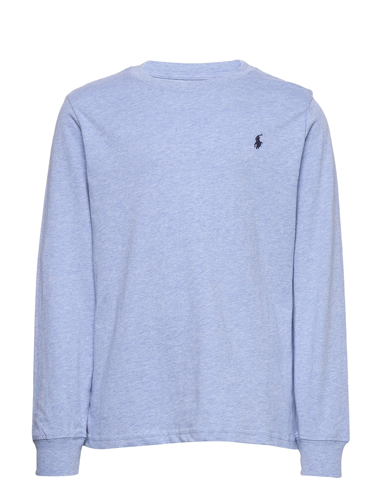 Ralph Lauren Kids Cotton Jersey Long-Sleeve Tee - COBALT HEATHER
