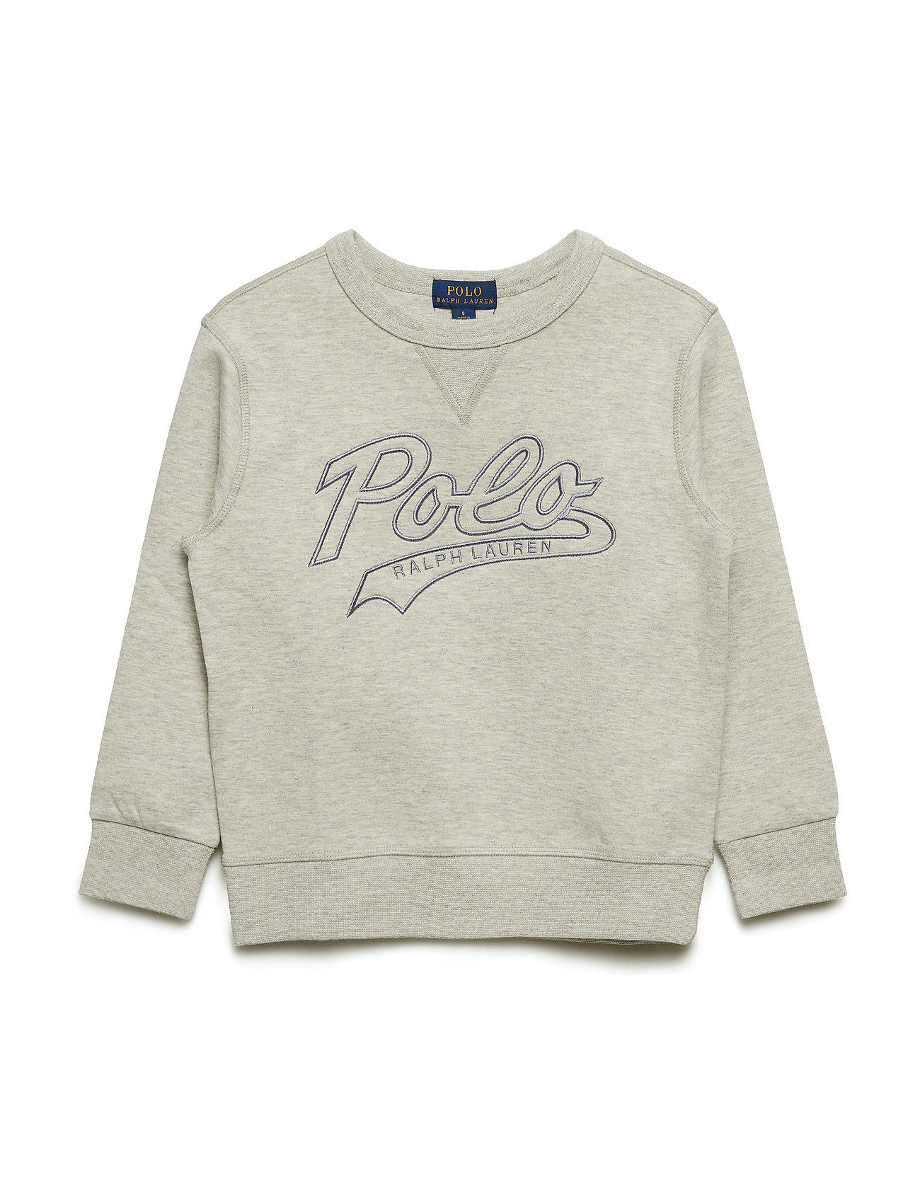 Ralph Lauren Kids Cotton-Blend Sweatshirt - LIGHT SPORT HEATH