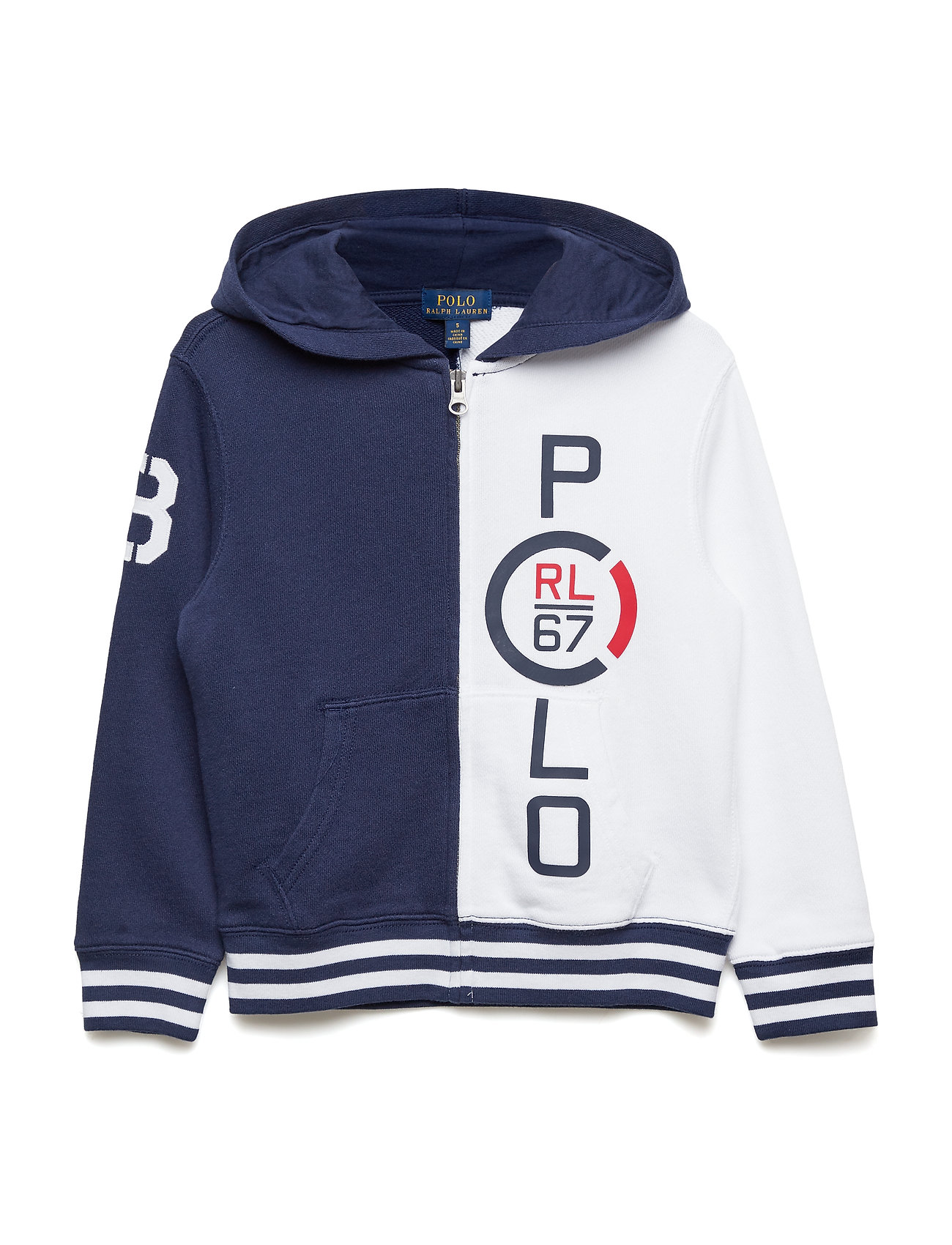 Ralph Lauren Kids Cotton French Terry Hoodie - NEWPORT NAVY