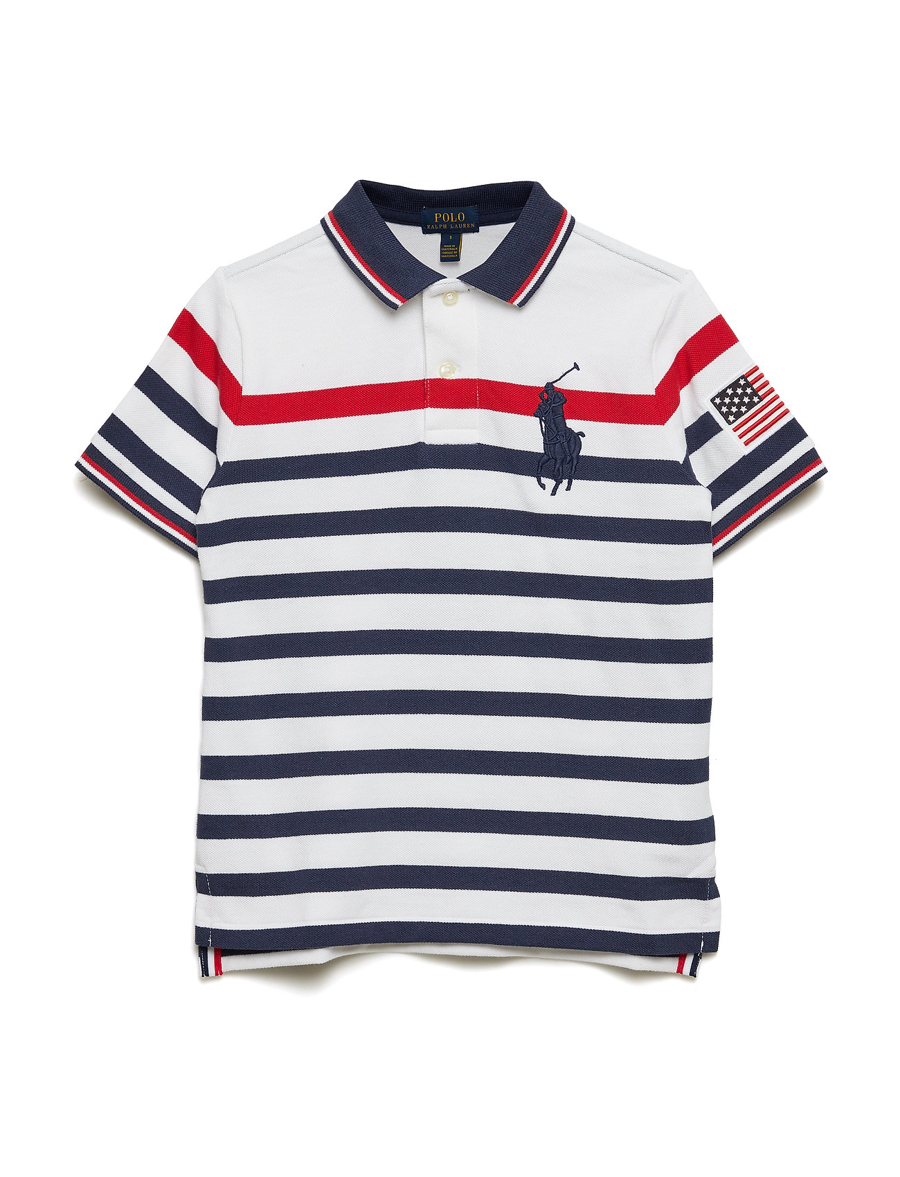 ef0eb1b50 Striped Cotton Mesh Polo Shirt (White Multi) (£65) - Ralph Lauren ...