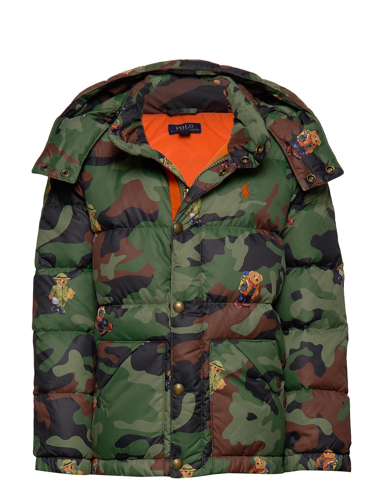Ralph Lauren Kids Bear Camo Down Jacket - BEAR GRAPHIC PRIN