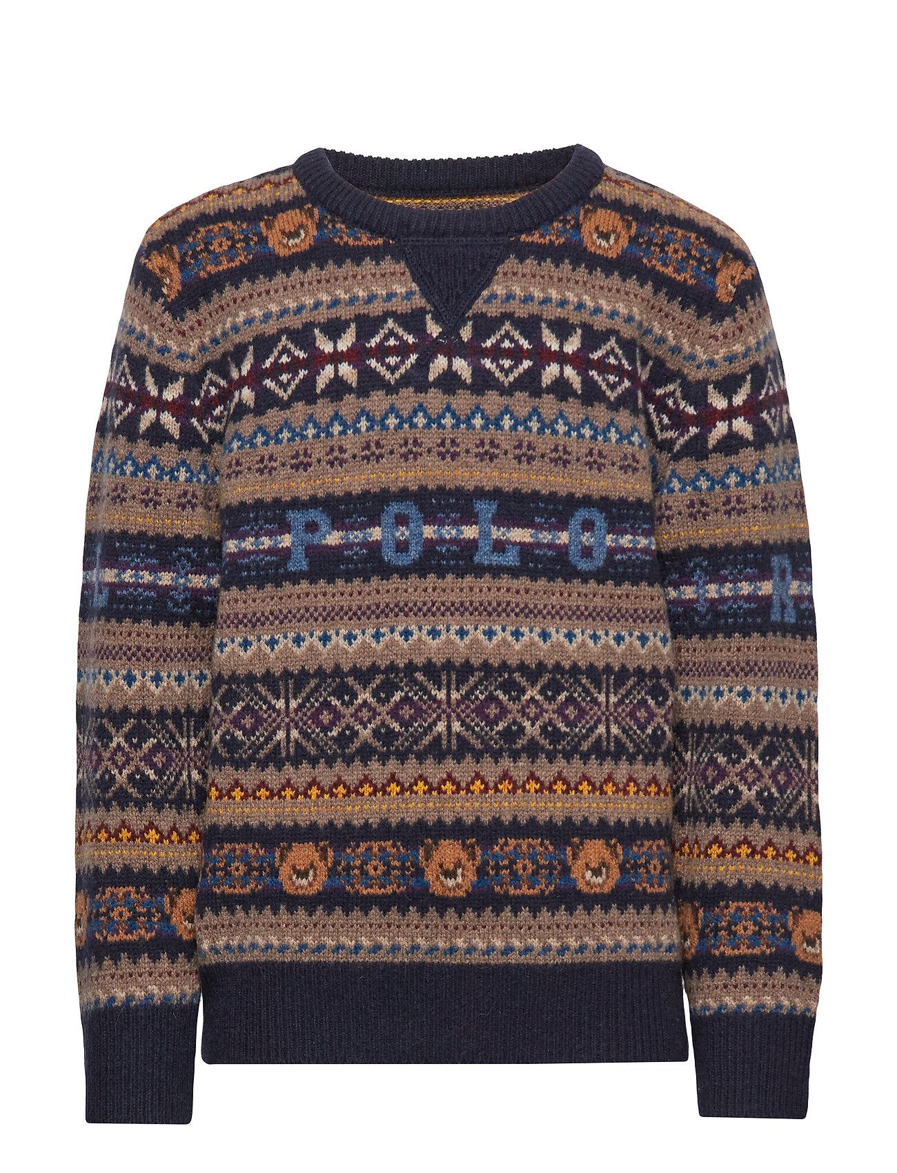 Ralph Lauren Kids Bear Fair Isle Sweater - RL NAVY MULTI