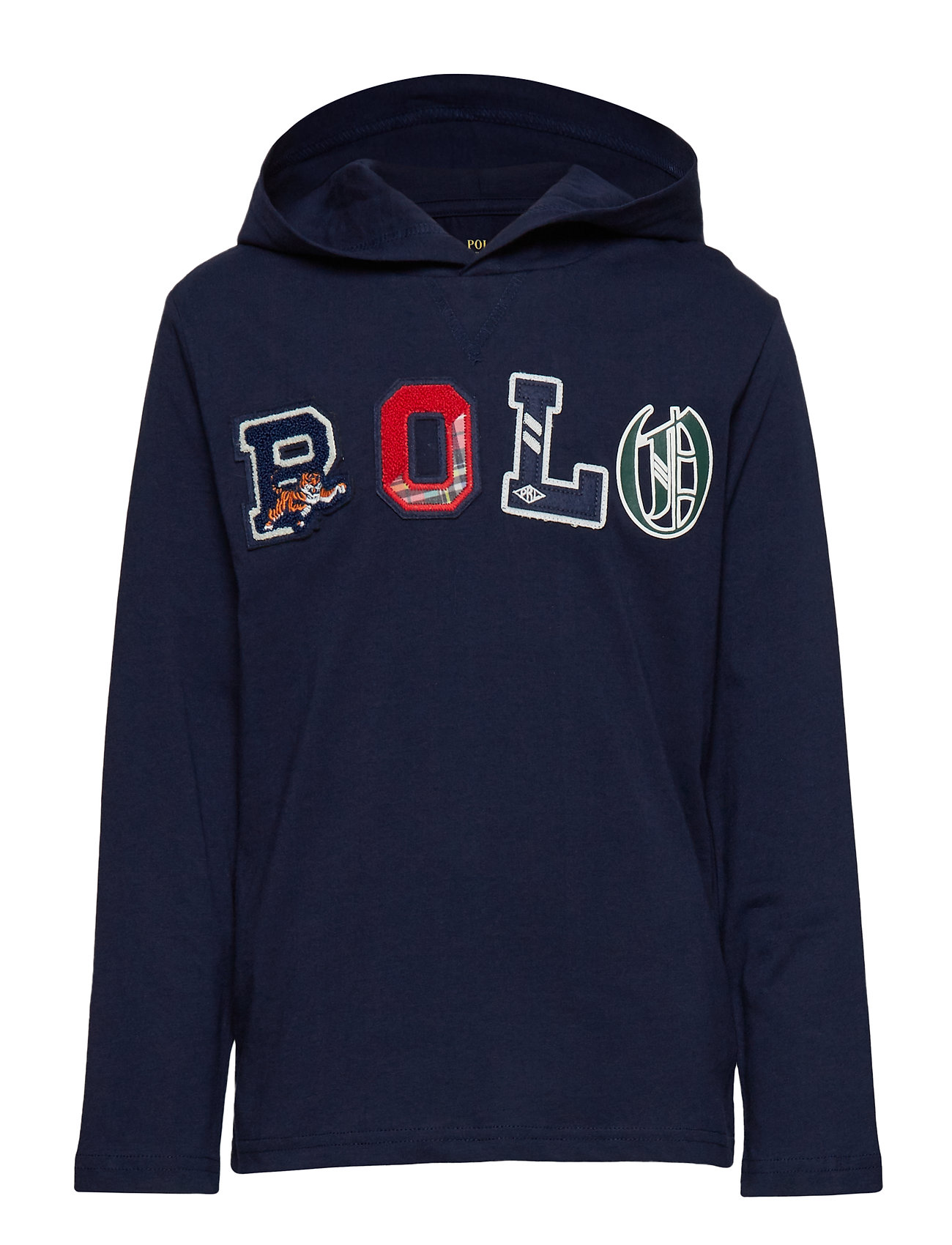 Ralph Lauren Kids Cotton Graphic Hooded Tee - FRENCH NAVY