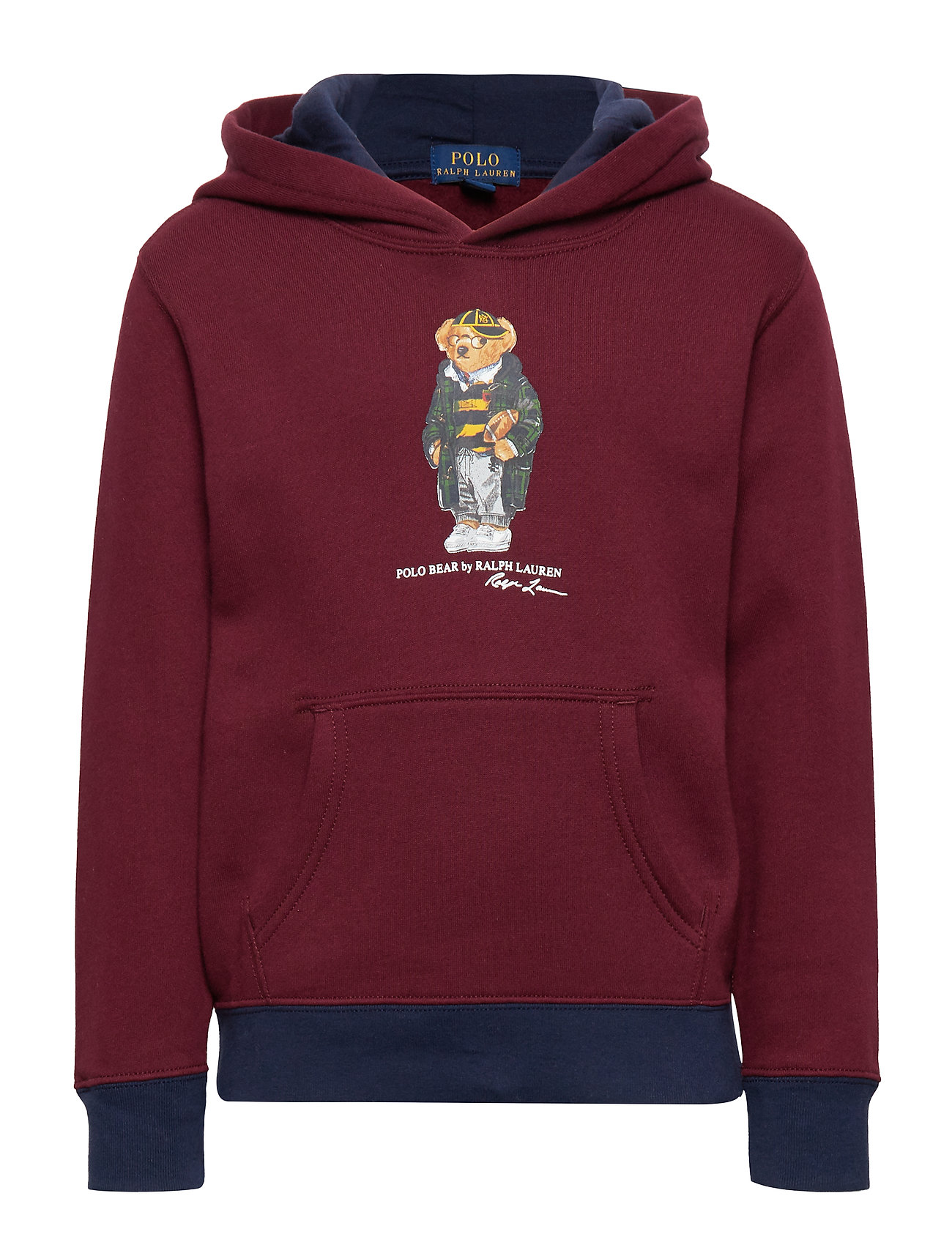 Ralph Lauren Kids LS HOOD-TOPS-KNIT - CLASSIC WINE