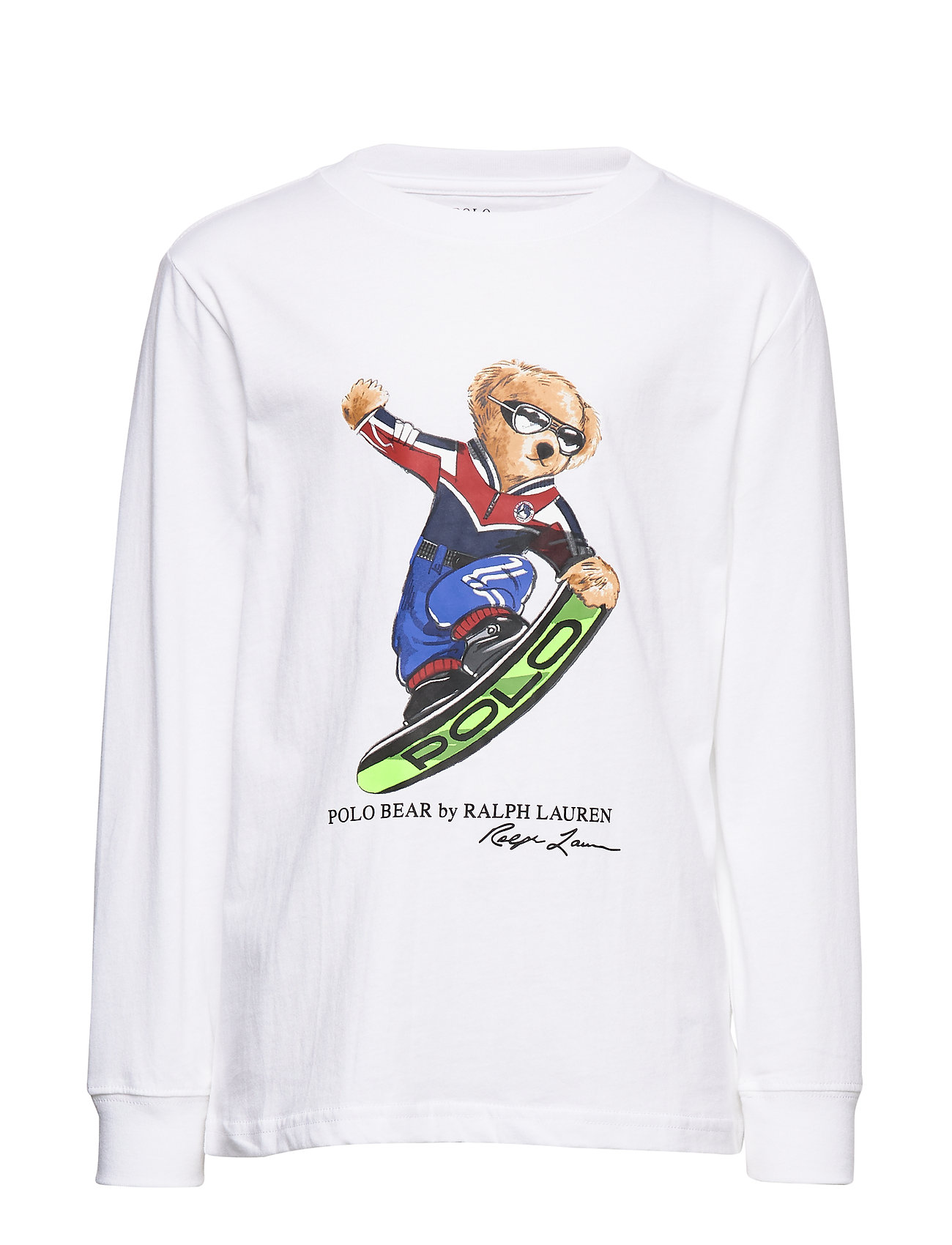 Ralph Lauren Kids LS CN-TOPS-T-SHIRT - WHITE