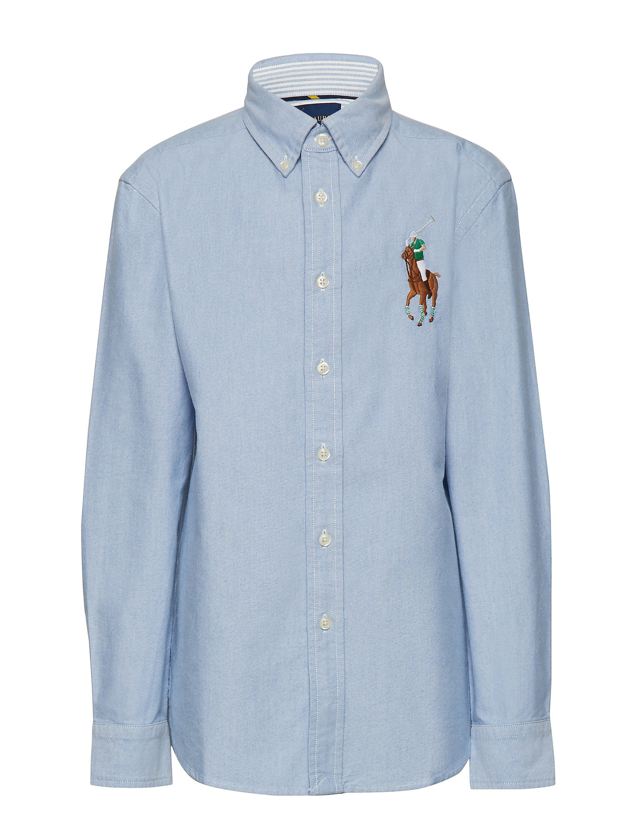 Ralph Lauren Kids Big Pony Cotton Oxford Shirt - BLUE