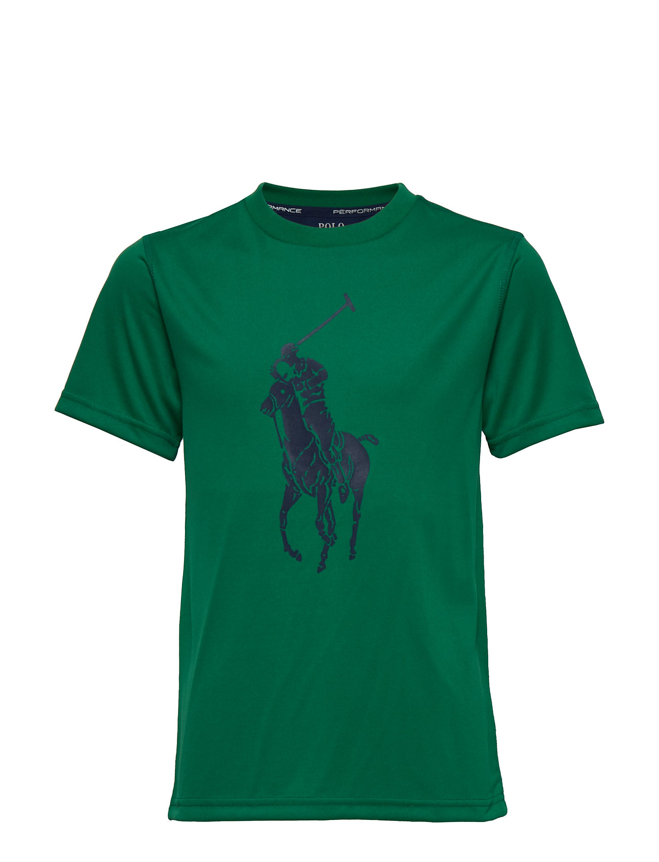 Ralph Lauren Kids Performance Jersey Tee - ATHLETIC GREEN