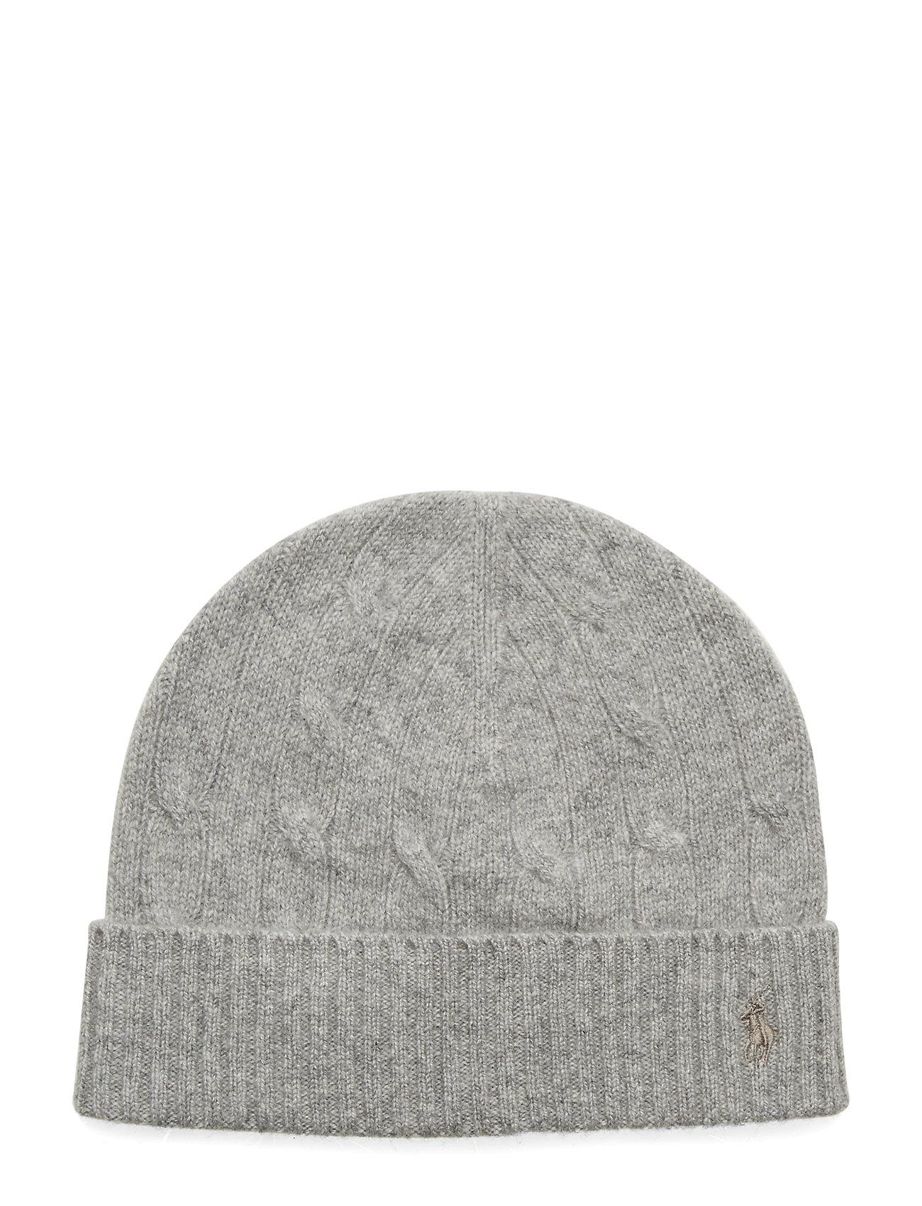Ralph Lauren Kids Cable-Knit Wool-Cashmere Hat - DARK SPORT HEATHE