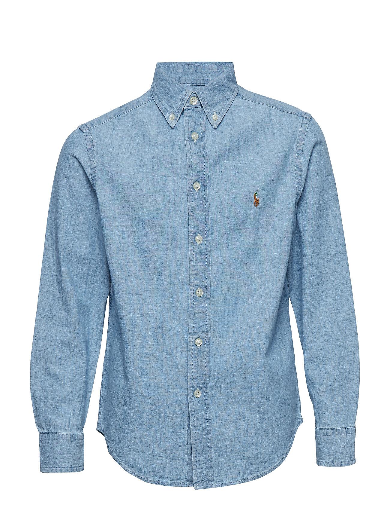 Ralph Lauren Kids Cotton Chambray Shirt - LT BLUE