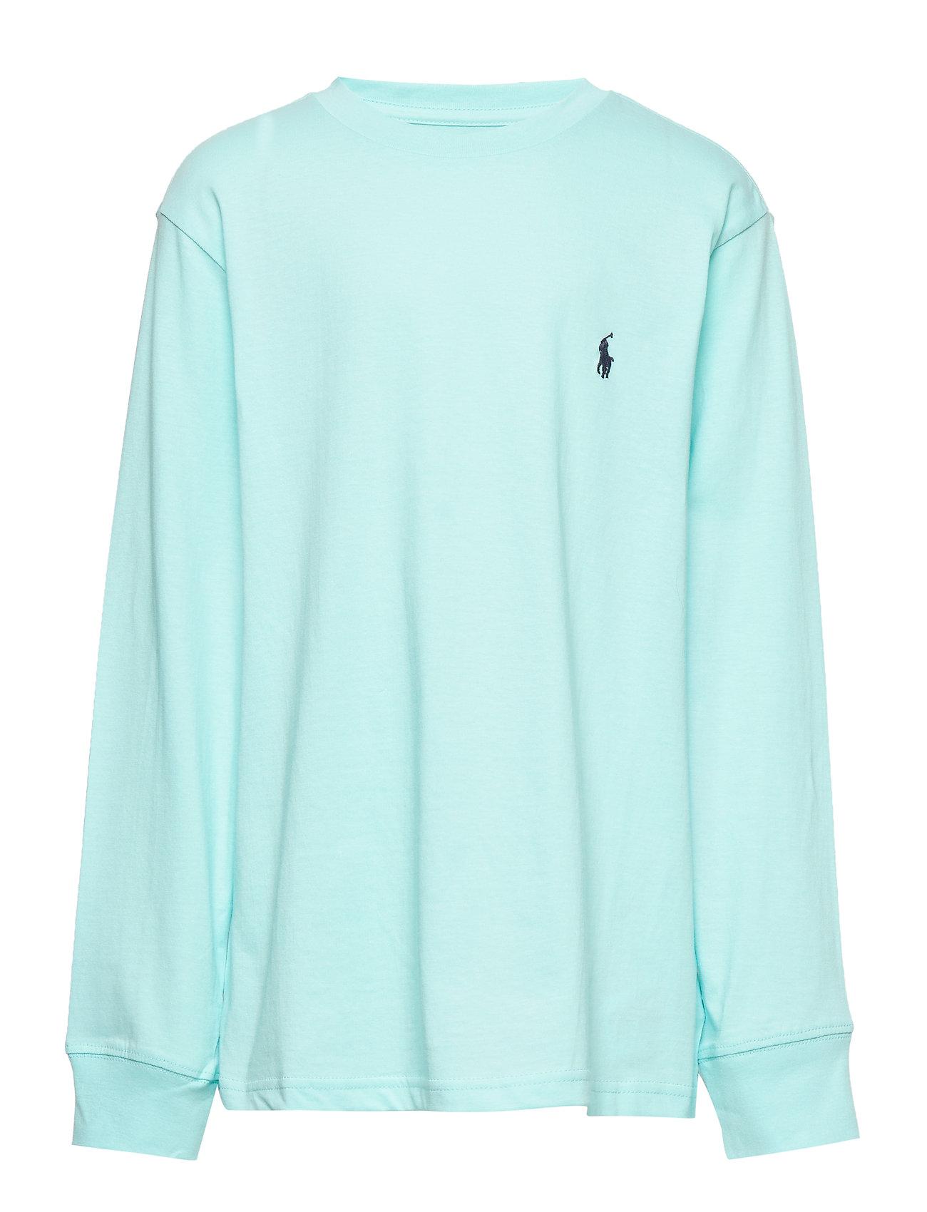 Ralph Lauren Kids Cotton Jersey Crewneck T-Shirt - ISLAND AQUA