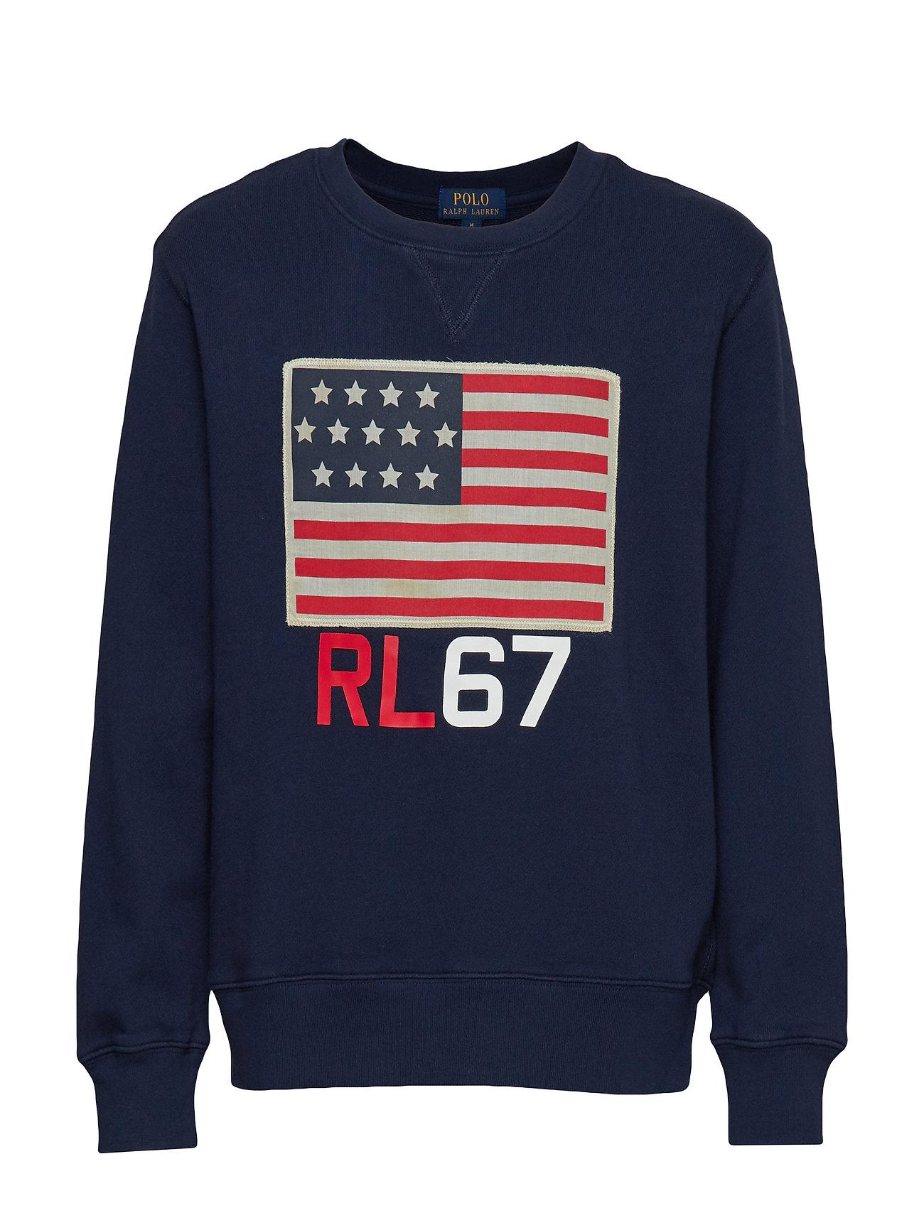Ralph Lauren Kids Flag Cotton Terry Sweatshirt - NEWPORT NAVY