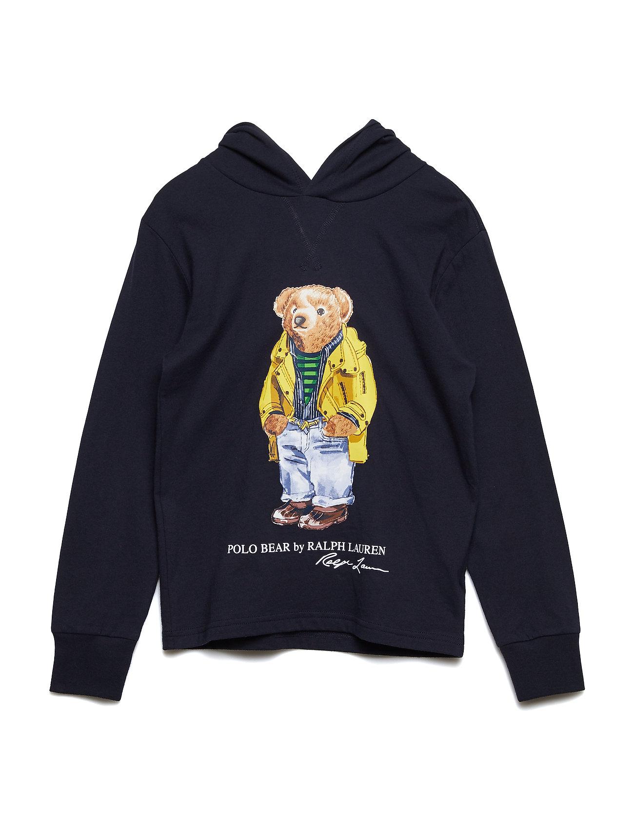 Ralph Lauren Kids JERSEY-BEAR HOODIE-TP-TSH