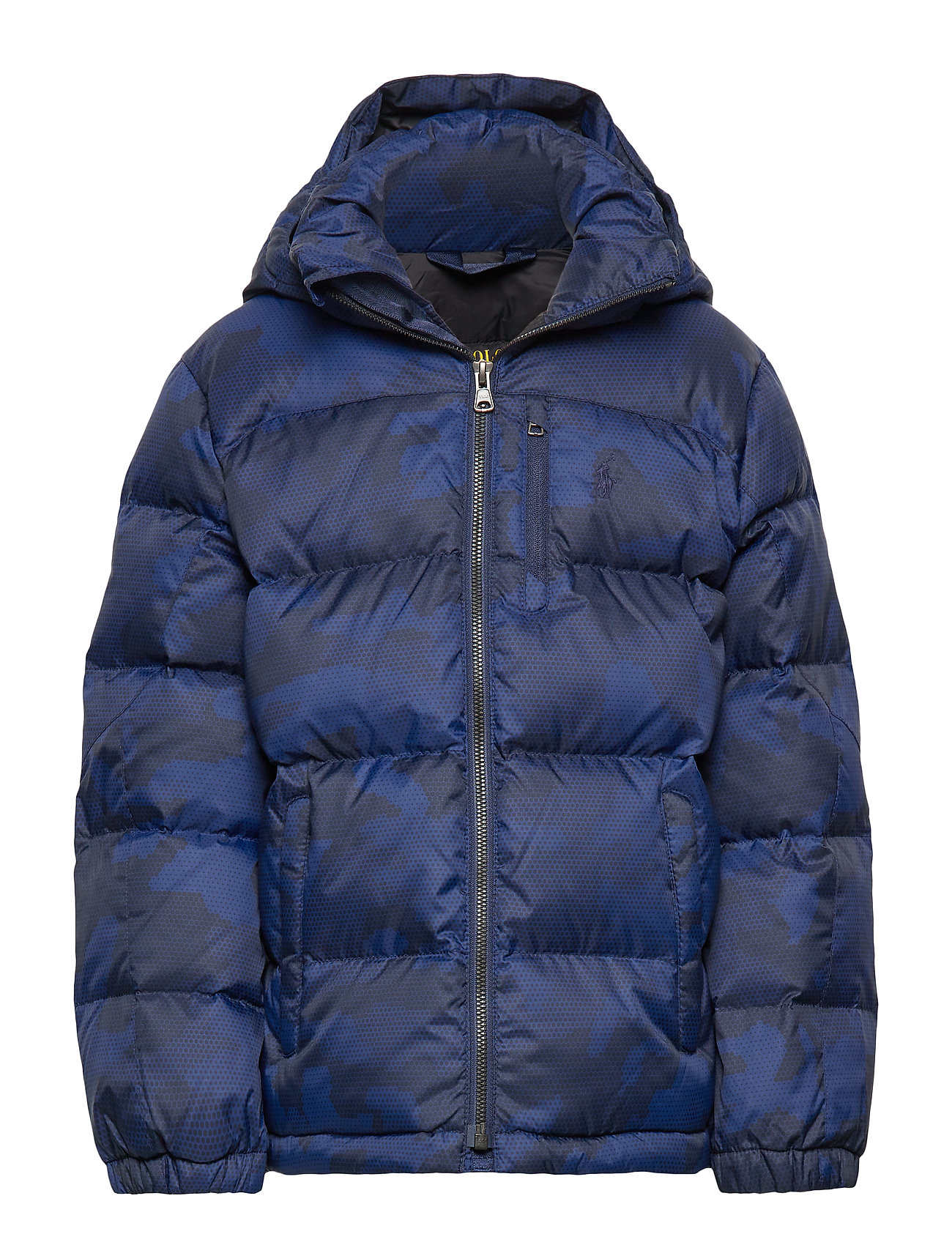 Ralph Lauren Kids Hooded Camo Down Jacket - NAVY CAMO