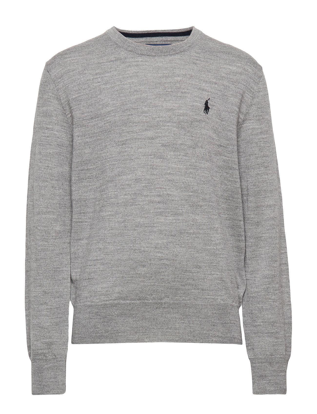Ralph Lauren Kids Merino Wool Crewneck Sweater - DARK SPORT HEATHE