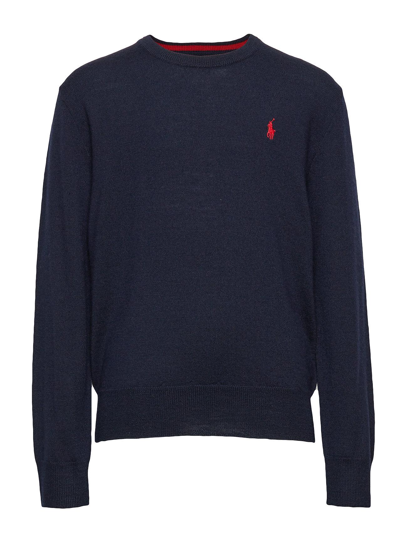 Ralph Lauren Kids Merino Wool Crewneck Sweater - NAVY