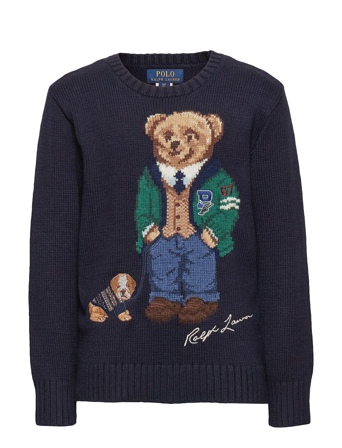 Ralph Lauren Kids Polo Bear Cotton-Wool Sweater - RL NAVY