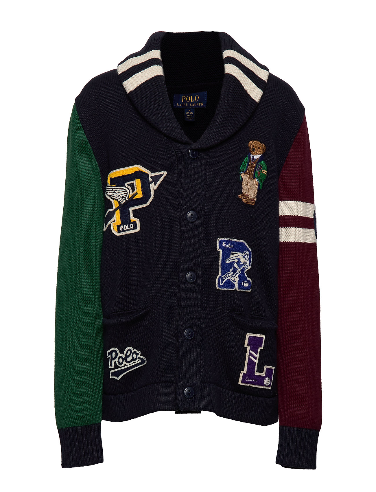 Ralph Lauren Kids Polo Bear Cotton Cardigan - RL NAVY MULTI