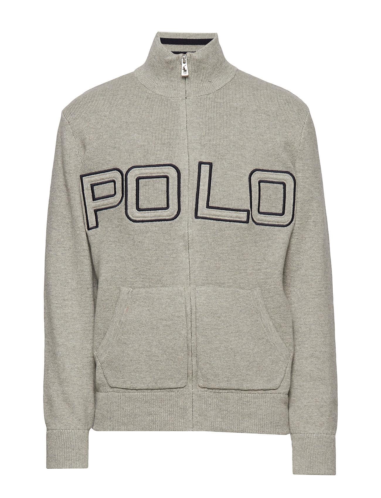 Ralph Lauren Kids Polo Cotton Full-Zip Sweater - DARK SPORT HEATHE
