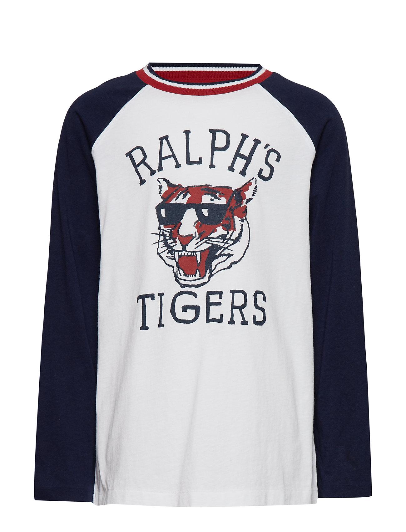 Ralph Lauren Kids Cotton Graphic Baseball Tee - WHITE