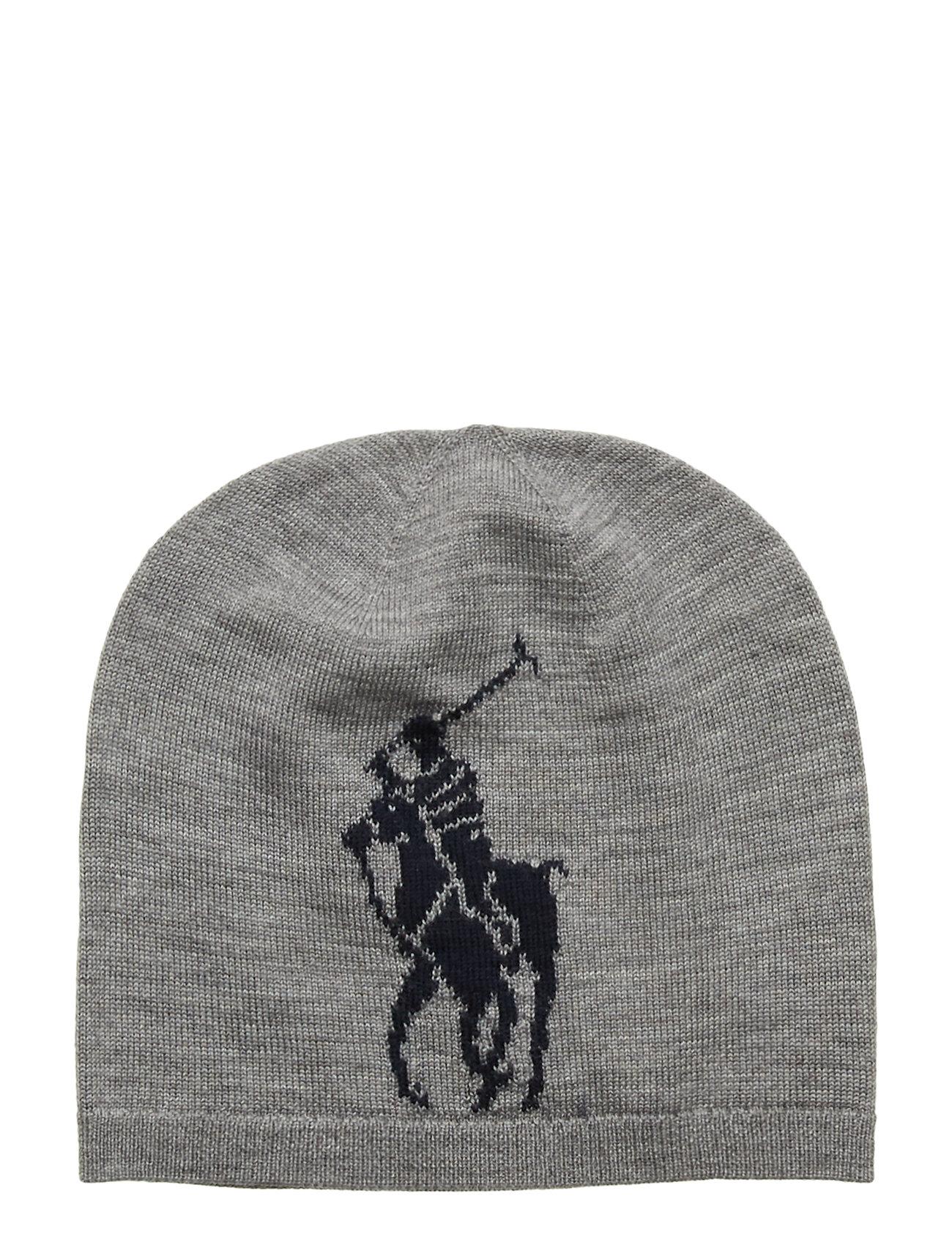 Ralph Lauren Kids Big Pony Wool Hat - DARK SPORT HEATHE