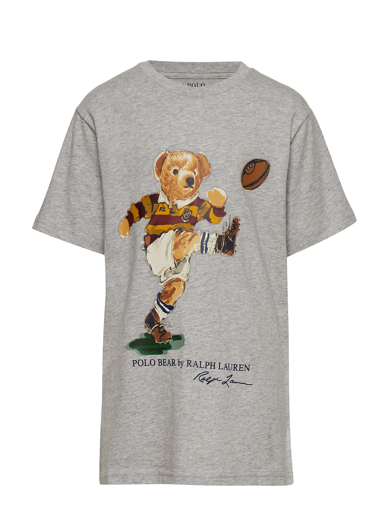 Ralph Lauren Kids Rugby Bear Cotton Jersey Tee - LT GREY