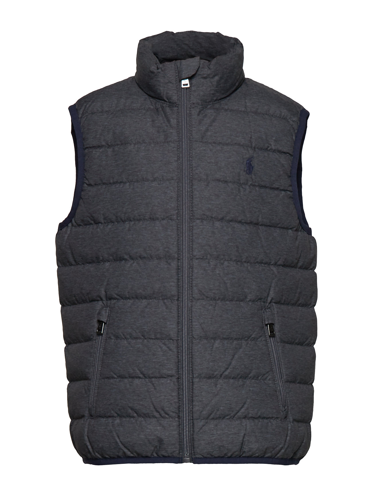 Ralph Lauren Kids Packable Quilted Down Vest - MECHANIC GREY