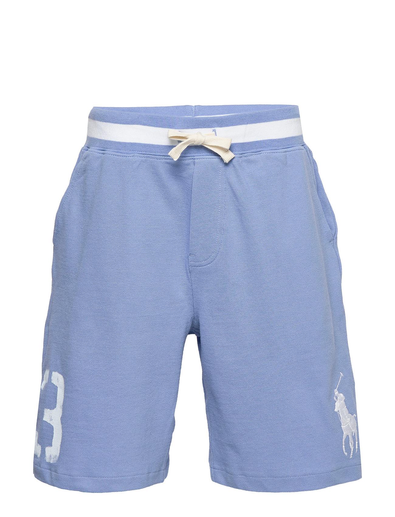Ralph Lauren Kids Big Pony Cotton Mesh Short - FALL BLUE