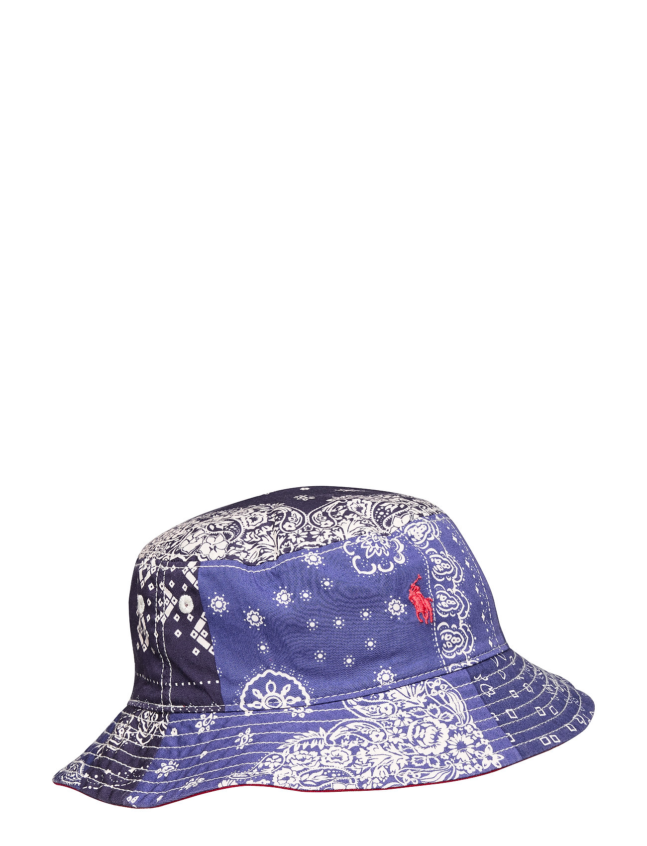 Ralph Lauren Kids Reversible Cotton Bucket Hat - BANDANA PRINT