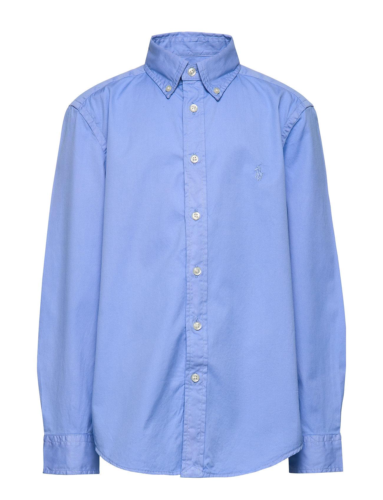 Ralph Lauren Kids Garment-Dyed Twill Shirt - FALL BLUE