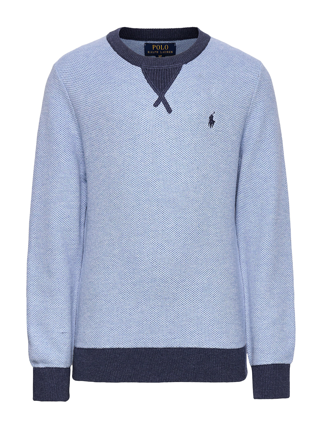 Ralph Lauren Kids Textured Cotton Sweater - CHAMBRAY HEATHER