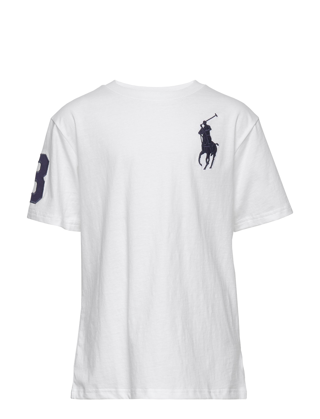 Ralph Lauren Kids Big Pony Cotton Jersey Tee - WHITE