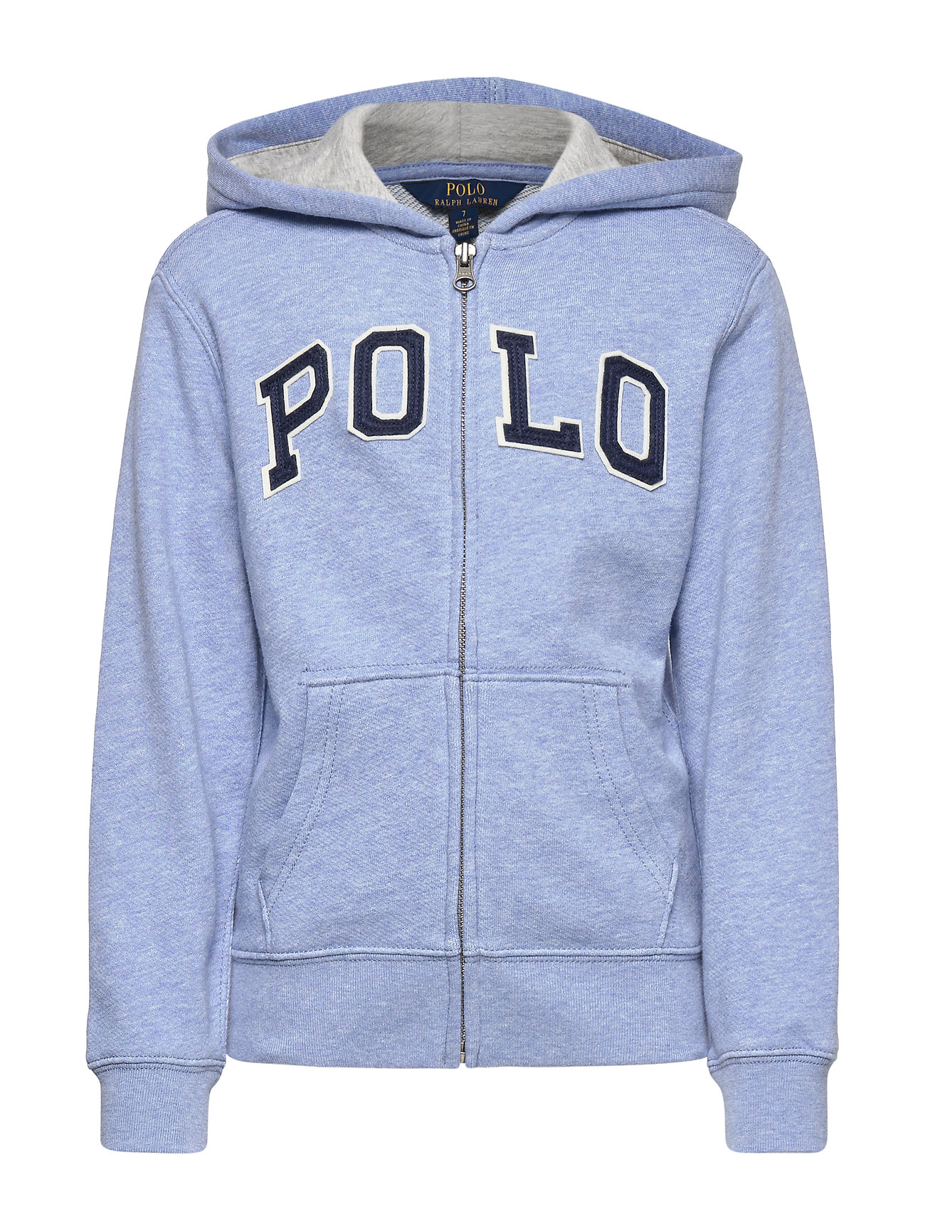 Ralph Lauren Kids Twill Terry Hoodie - COBALT HEATHER